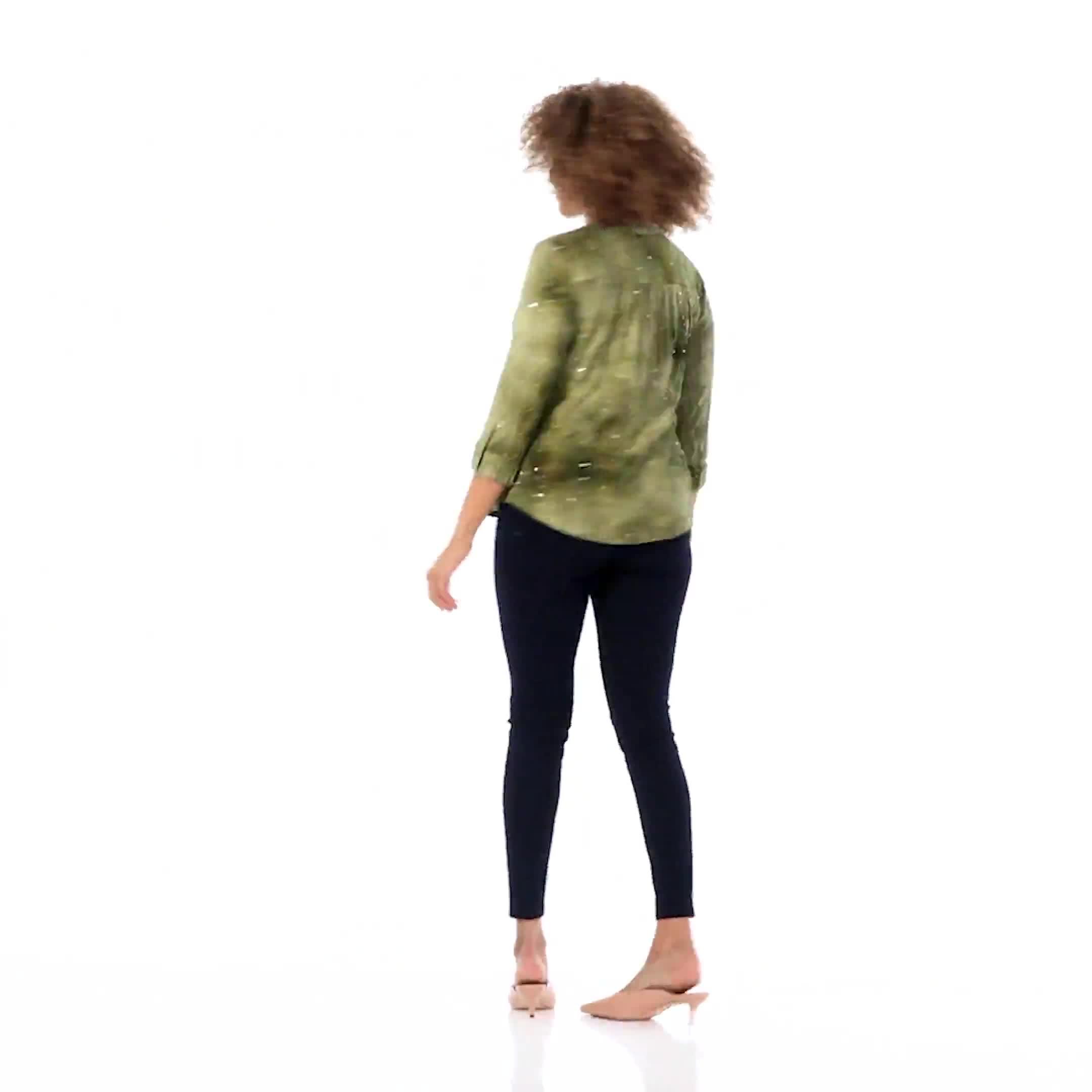 Roz & Ali Sequin Tie Dye Popover - Video