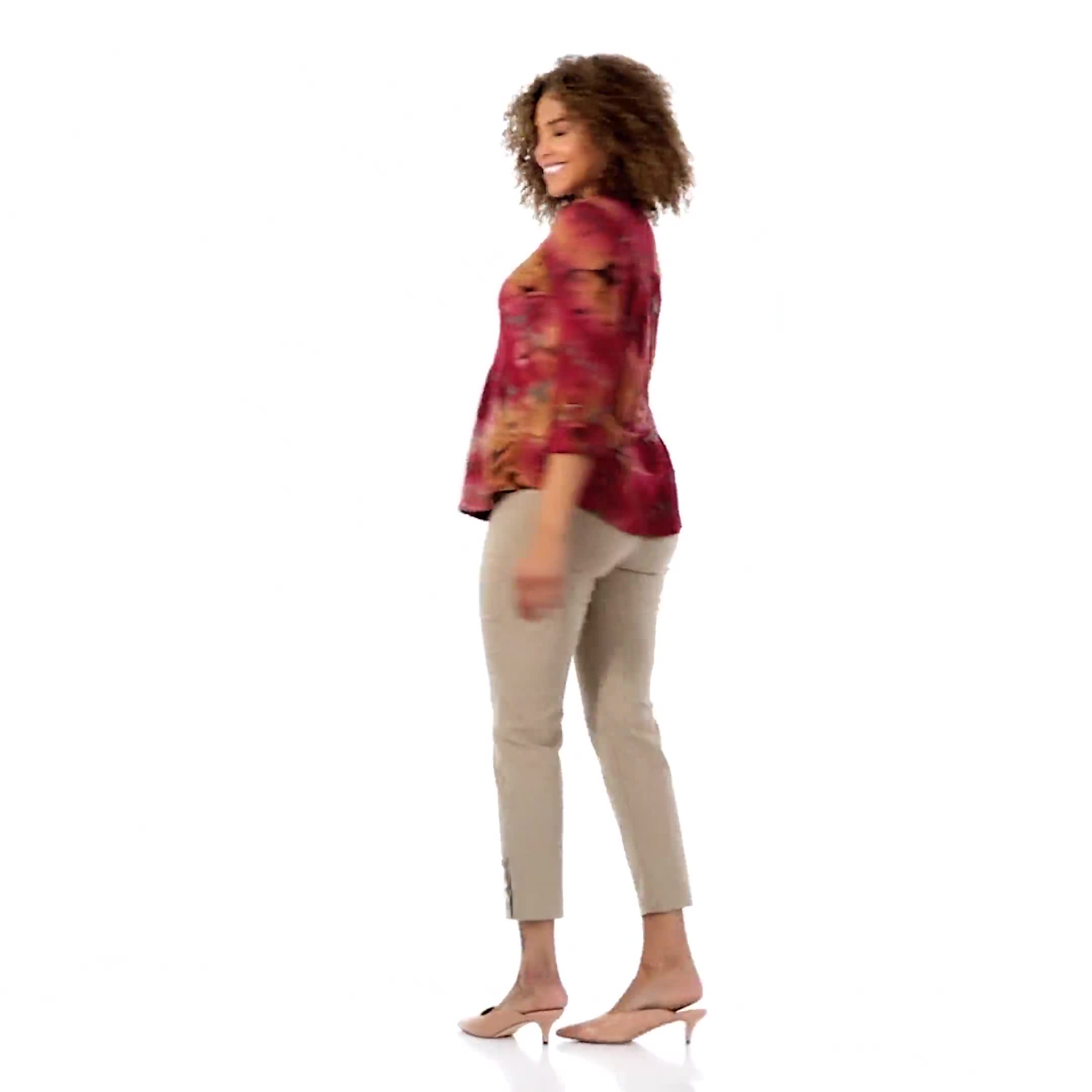 Roz & Ali Wine Tie Dye Popover - Video