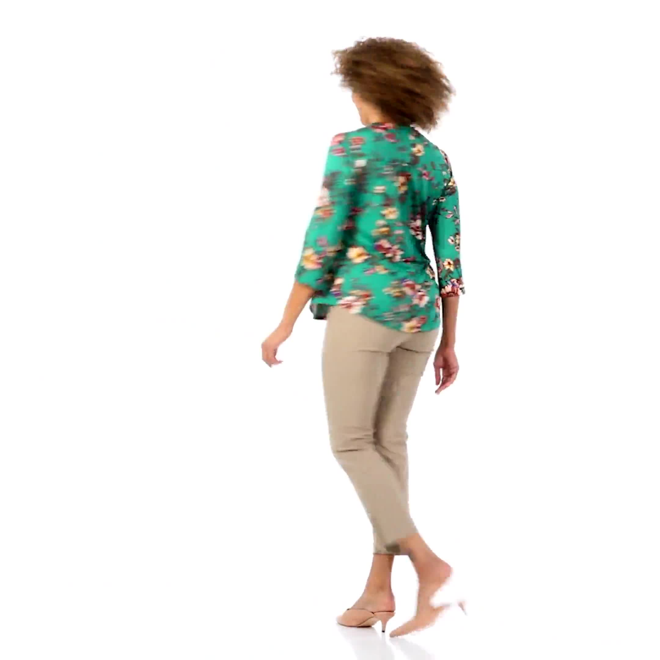 Roz & Ali Multi Color Floral Popover - Misses - Video