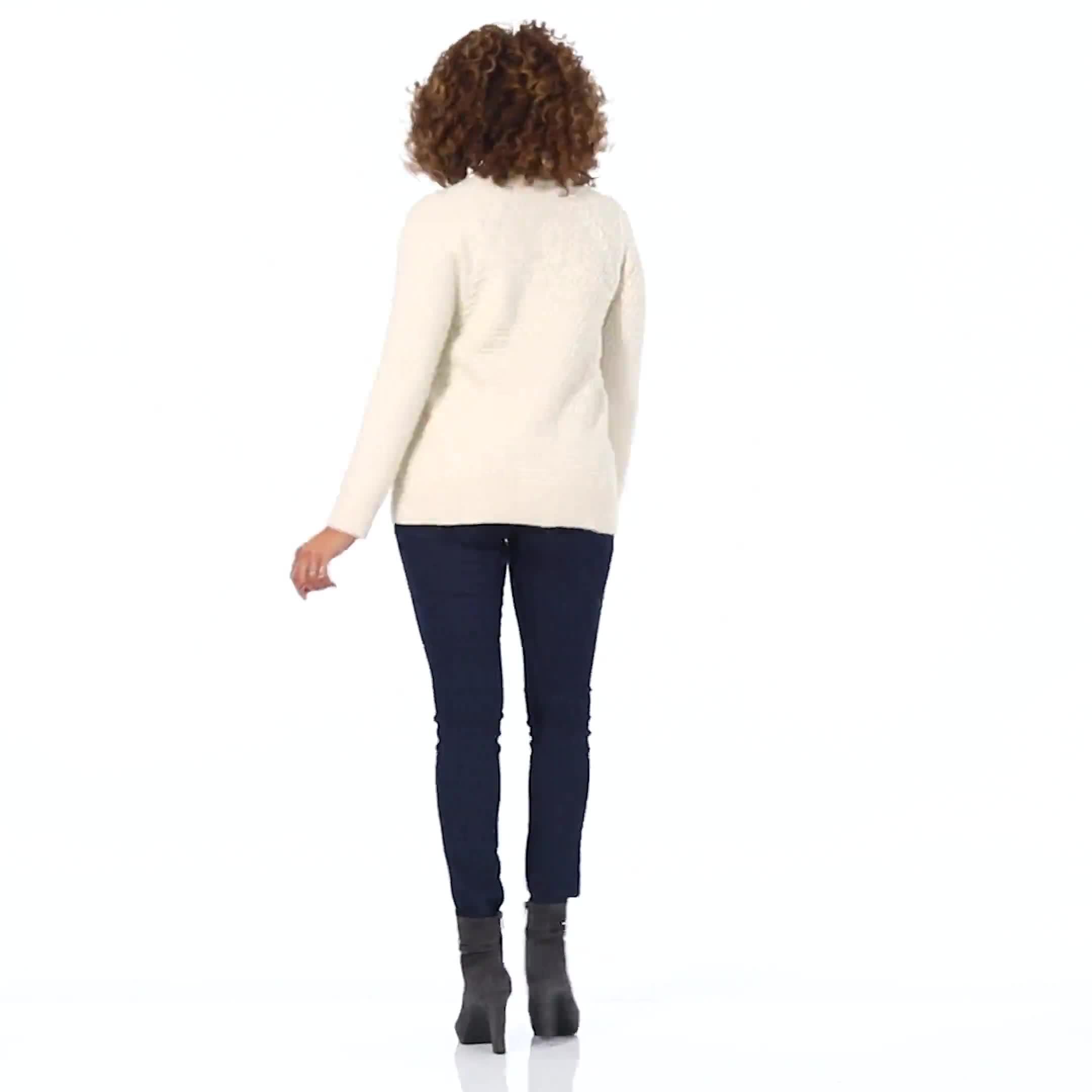 Westport Lurex Sharkbite Pullover Sweater - Video