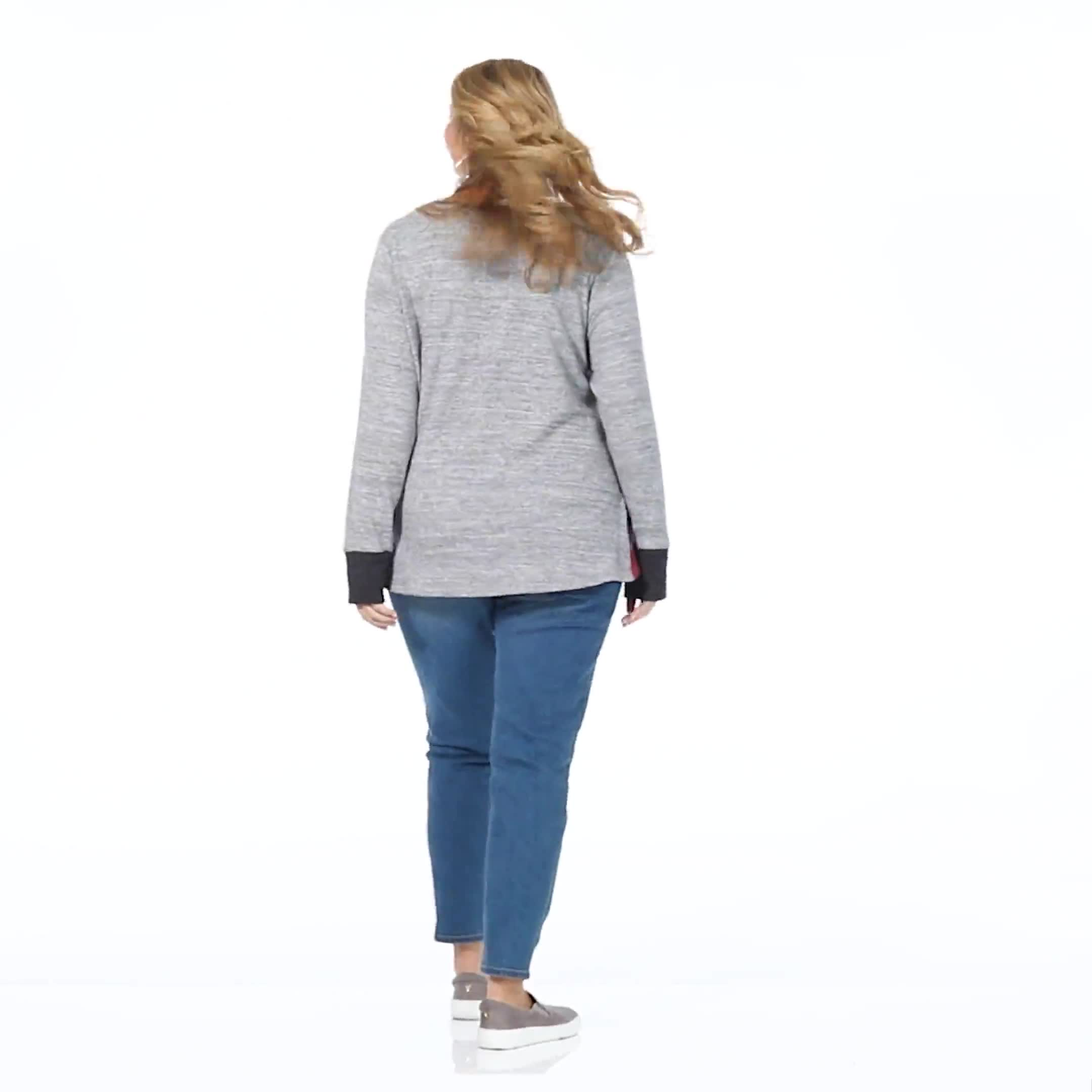 Westport Color Block Hacci Twist Front Top - Plus - Video