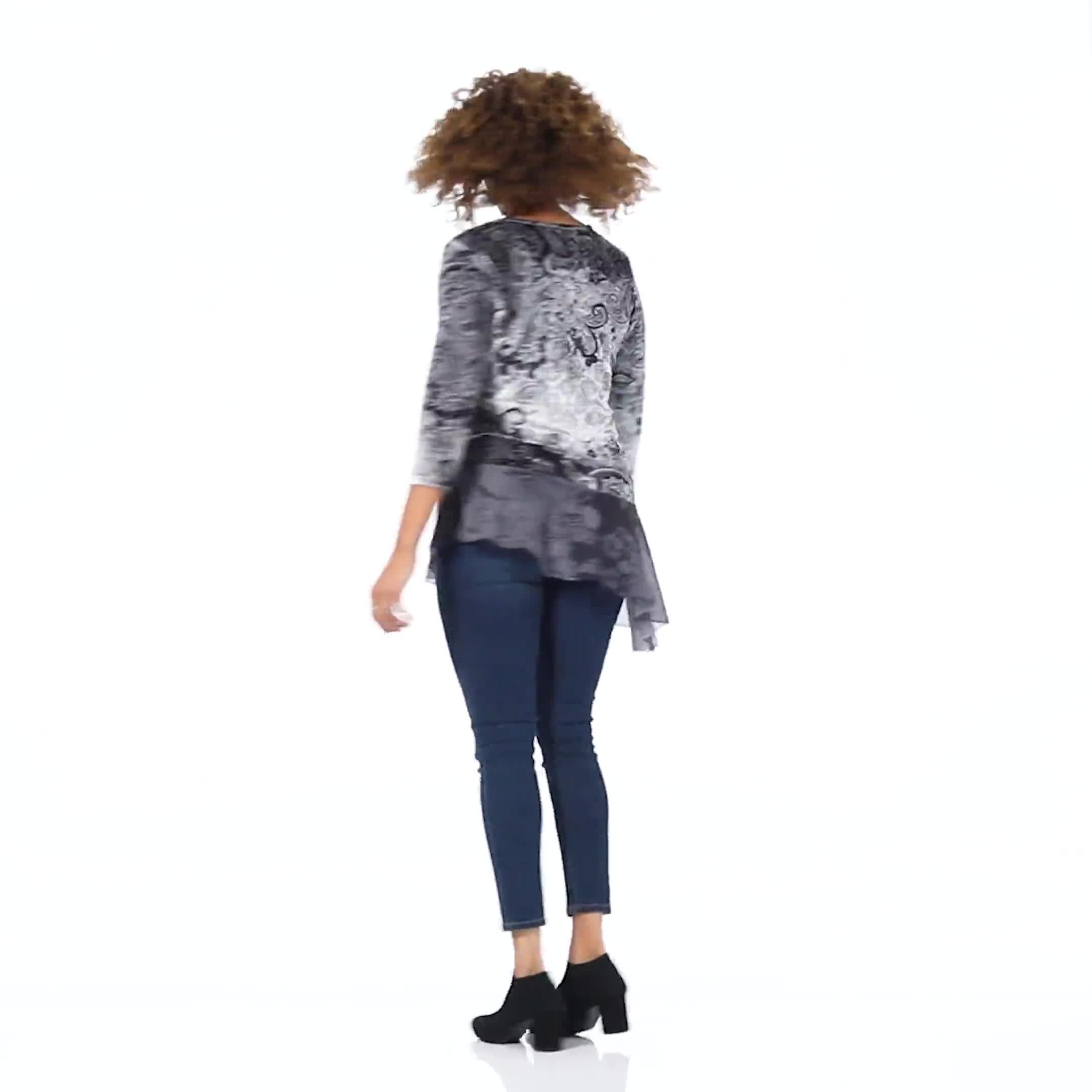Velvet Asymmetrical Hem Knit Top - Video