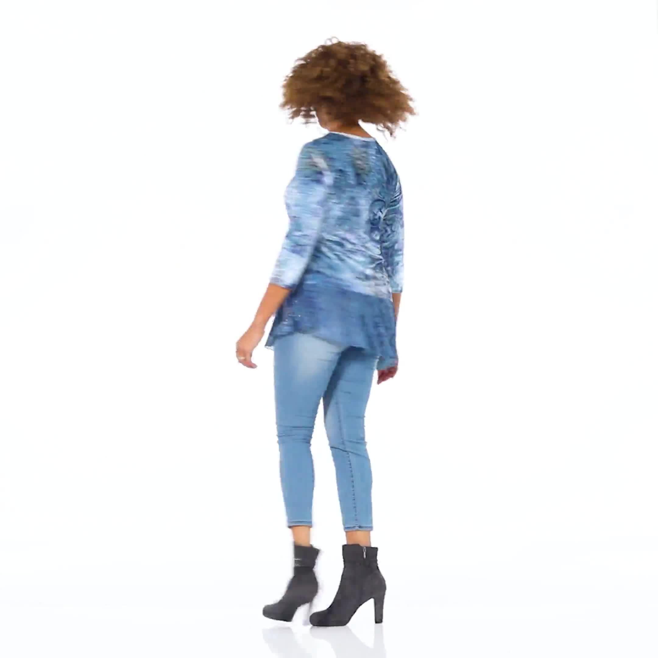 Velvet Asymmetrical Hem Knit Top - Video