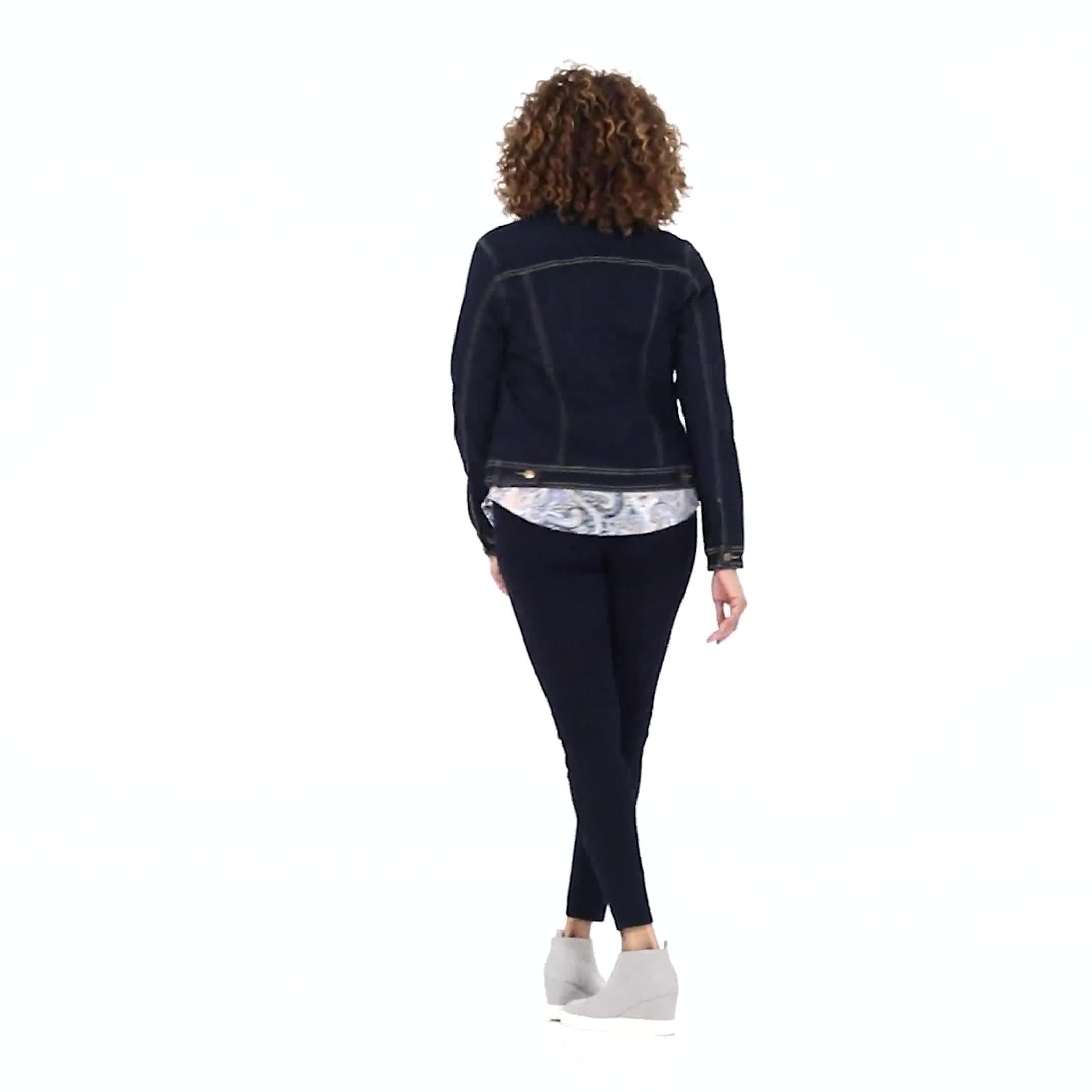 Westport Stretch Denim Button Front Jean Jacket - Video
