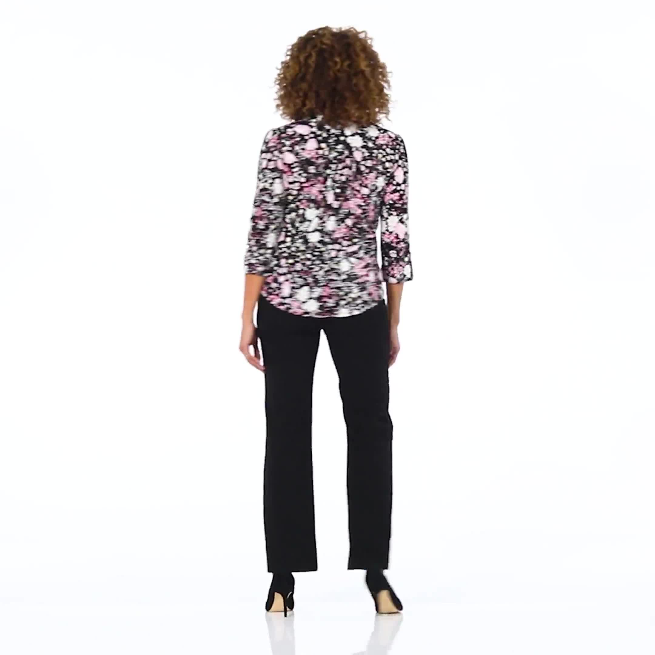 Roz & Ali Floral Bouquet Pintuck Popover - Video
