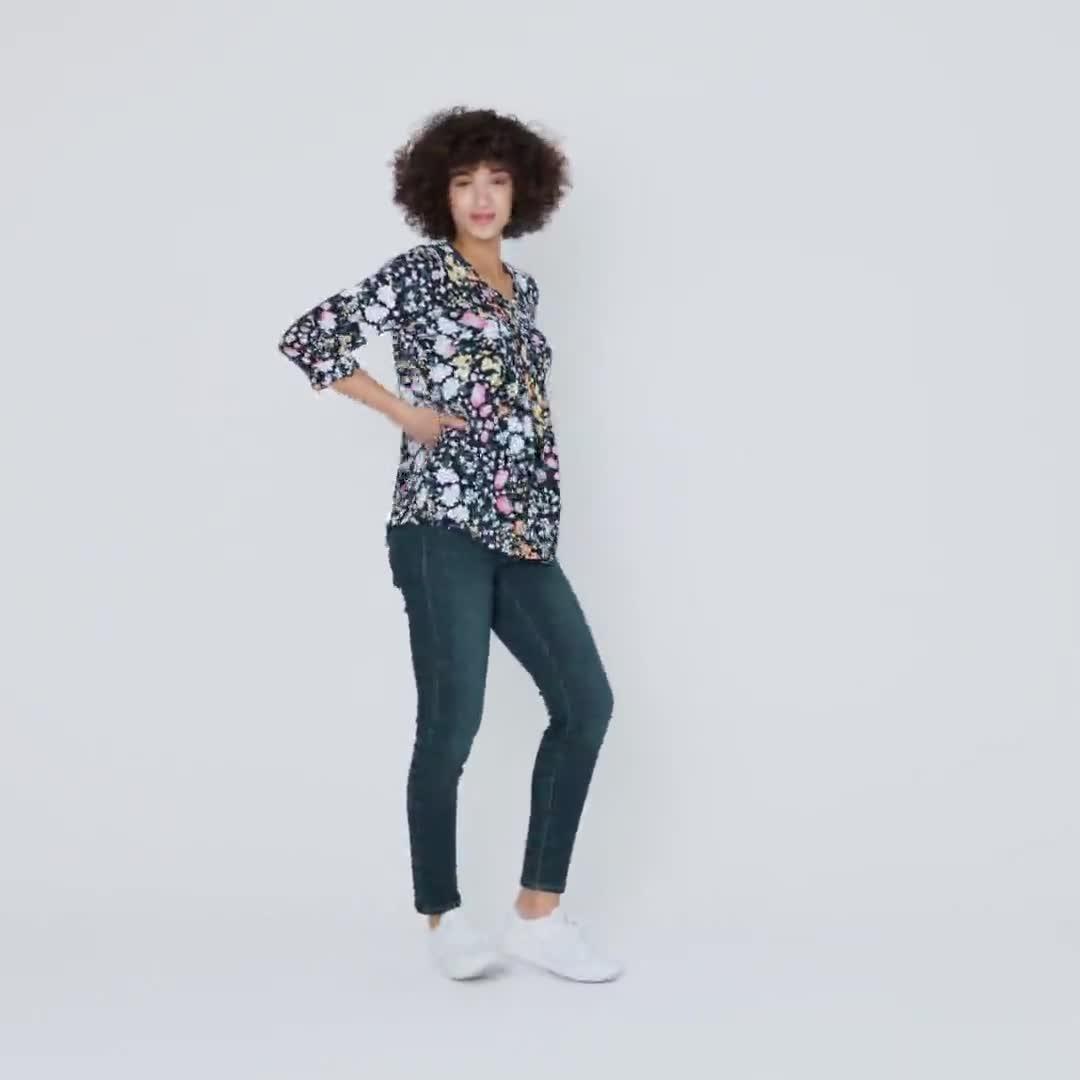 Roz & Ali Multi Color Floral Popover - Video