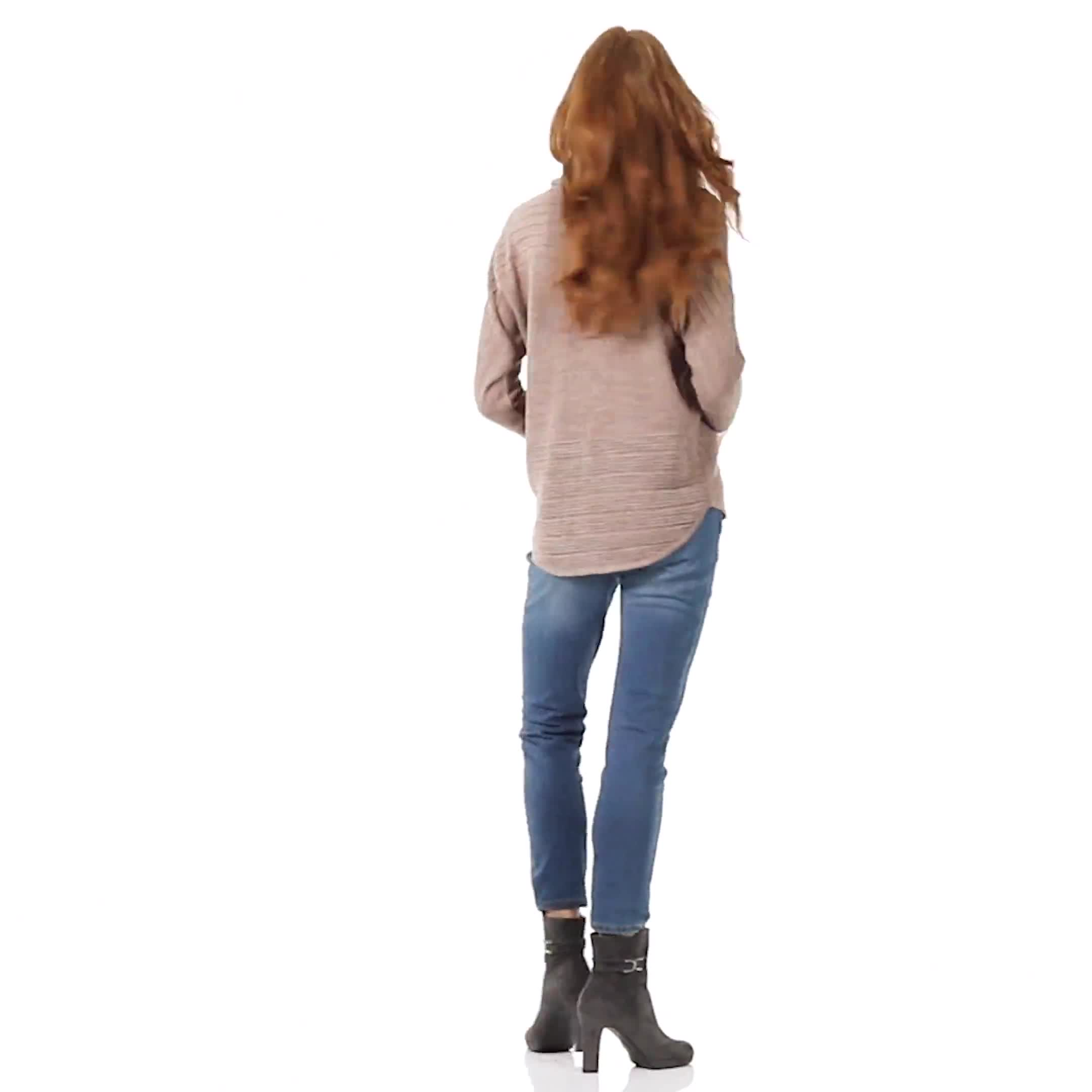 Westport Drape Neck Curved Hem Sweater - Video