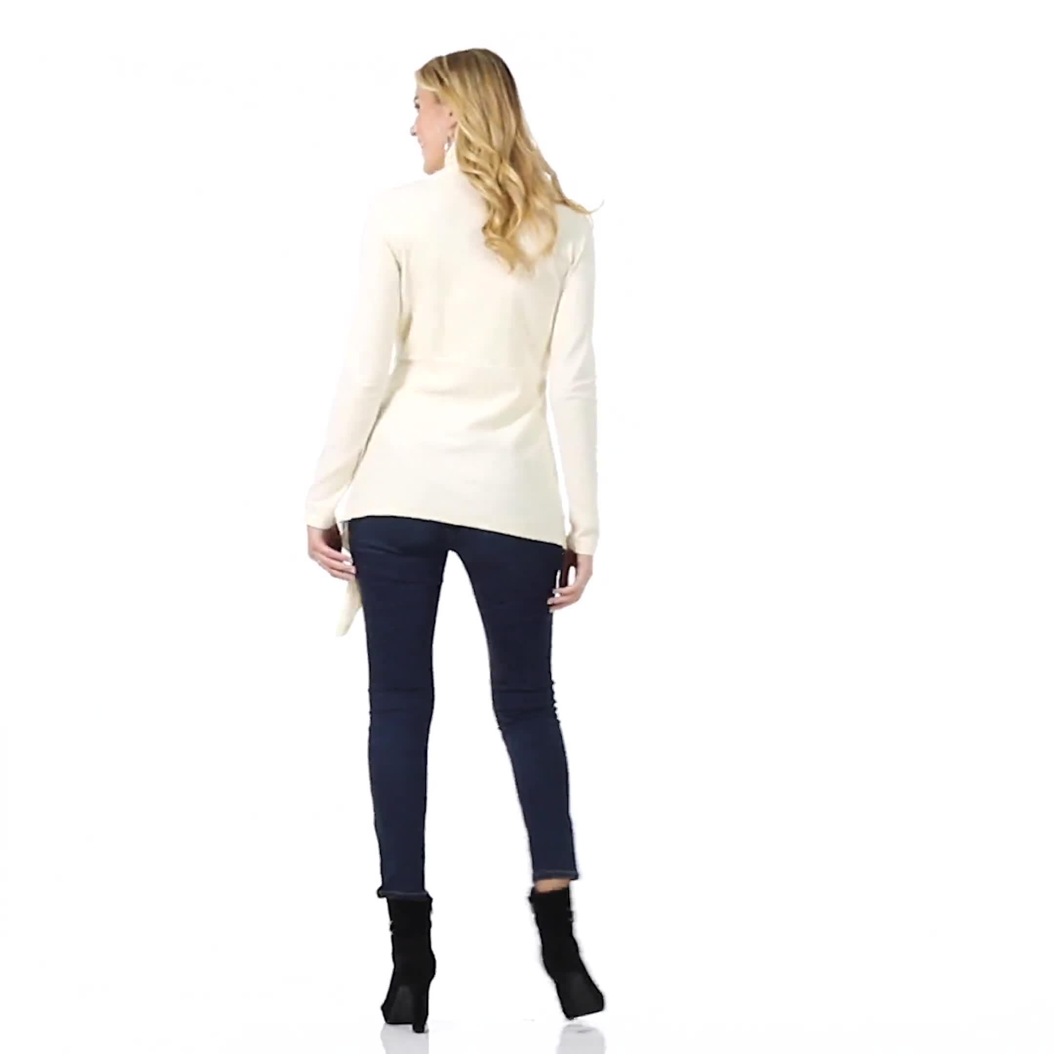 Roz & Ali Cable Front Buckle Cardigan - Video