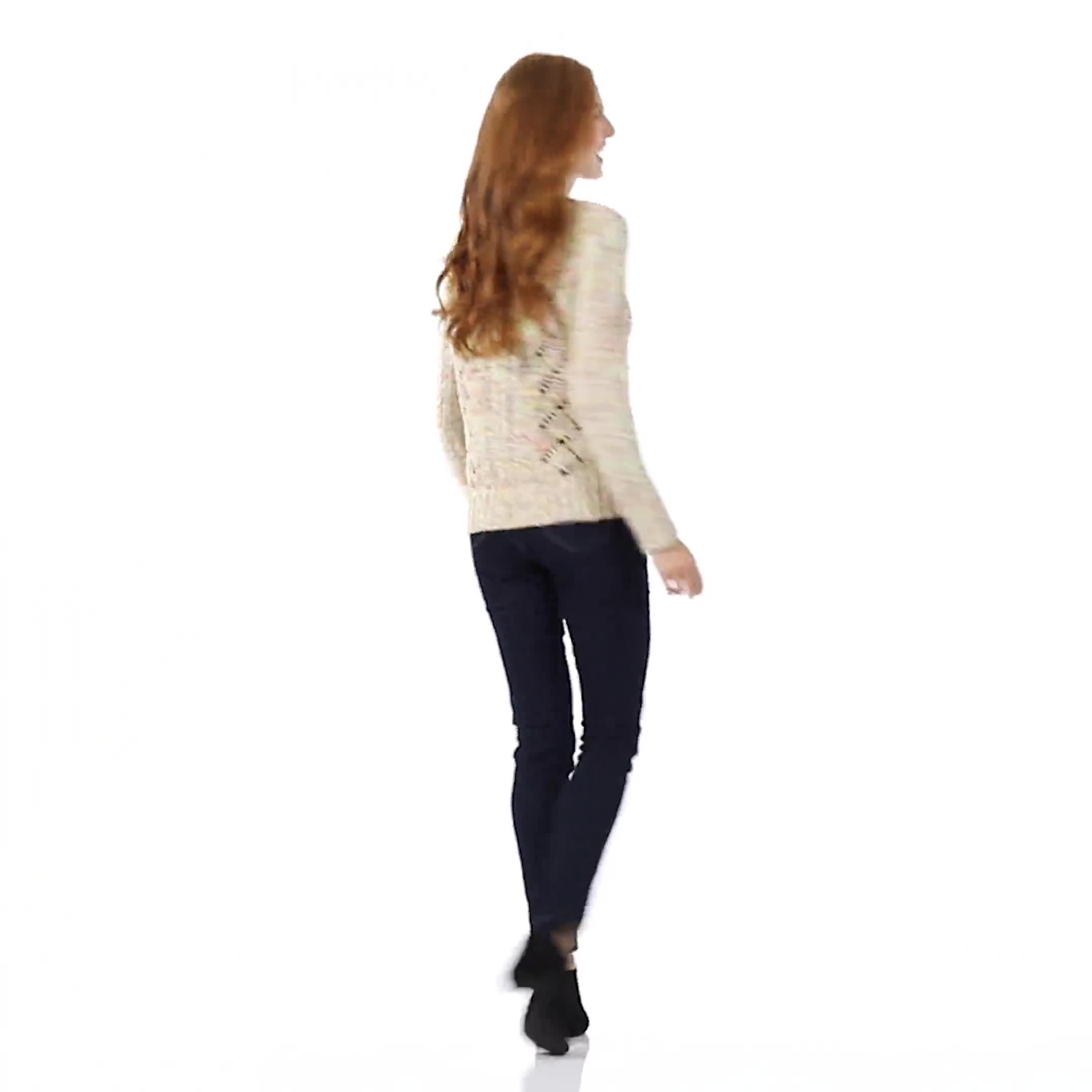 Roz & Ali Novelty Fringe Pullover Sweater - Video