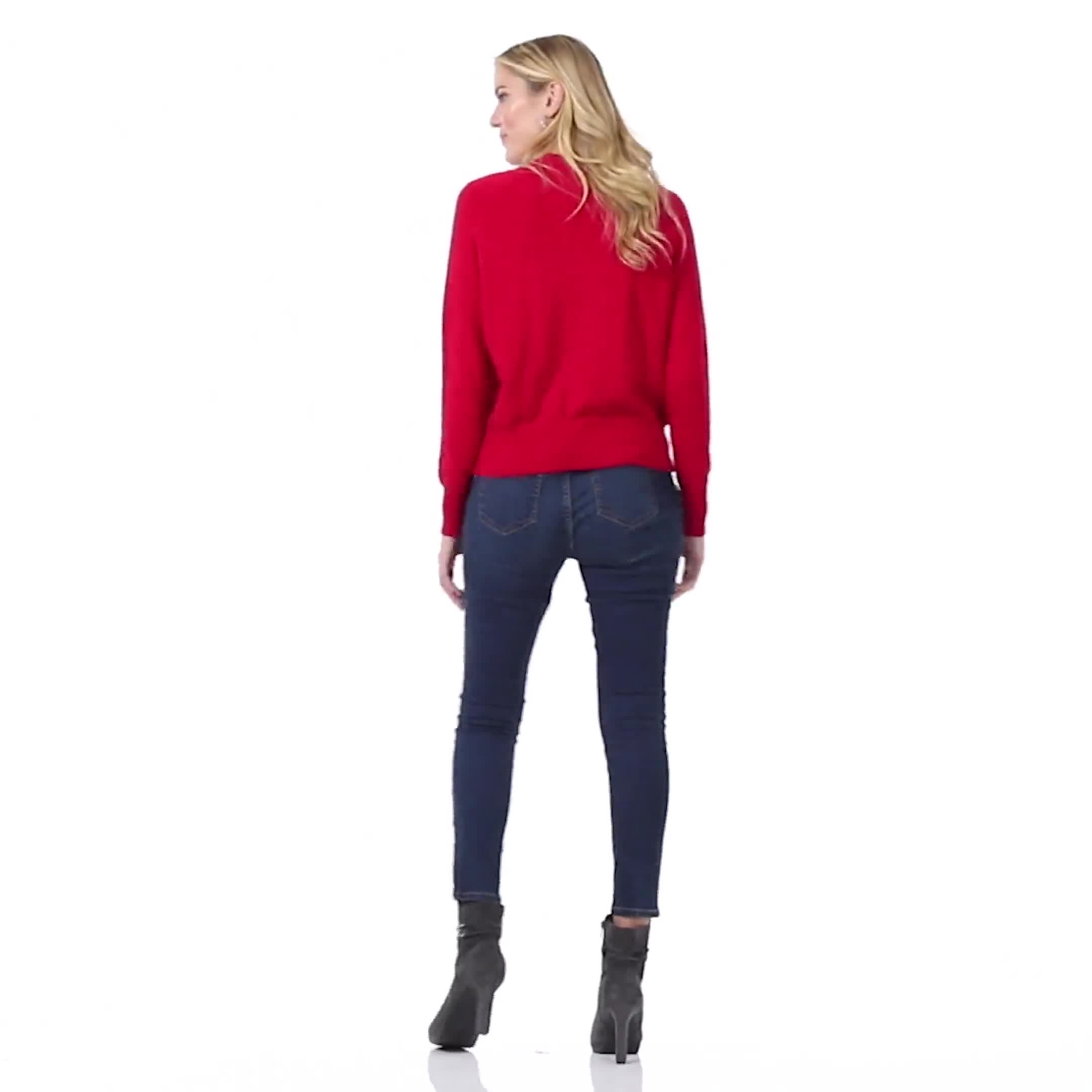 Roz & Ali Cascading Jewels Pullover Sweater - Video