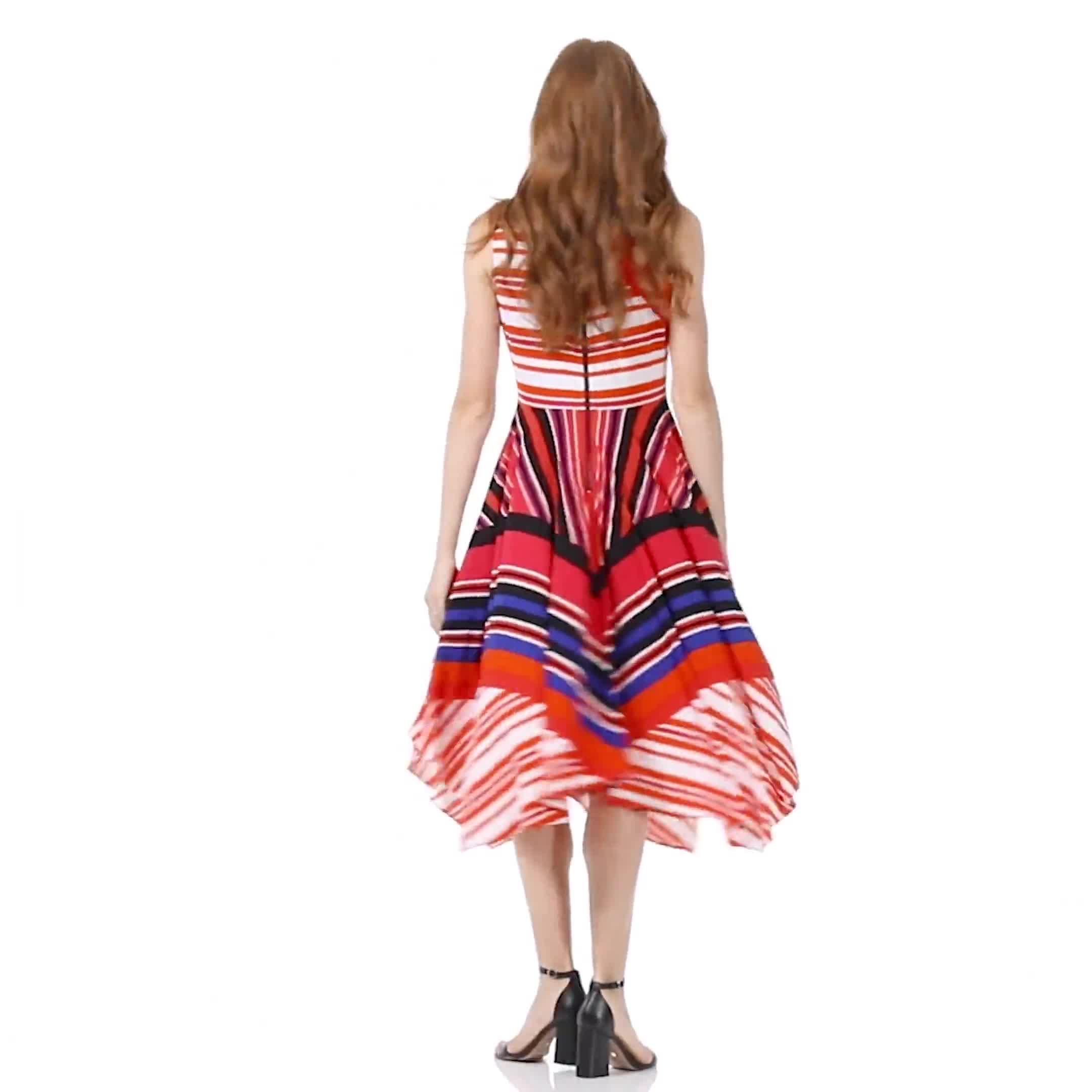 Colorful Striped Dress - Video