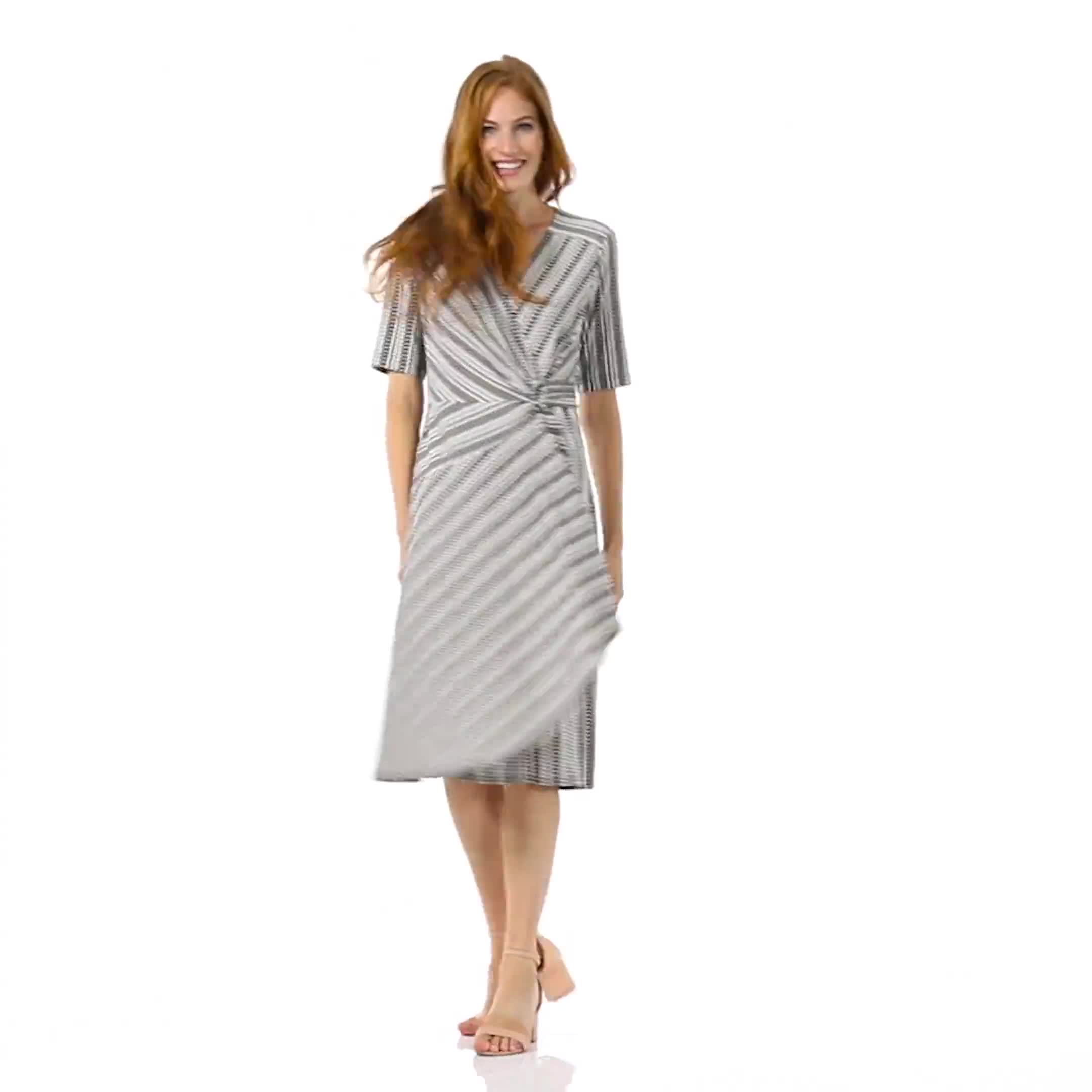 Wrap Striped Dress - Misses - Video