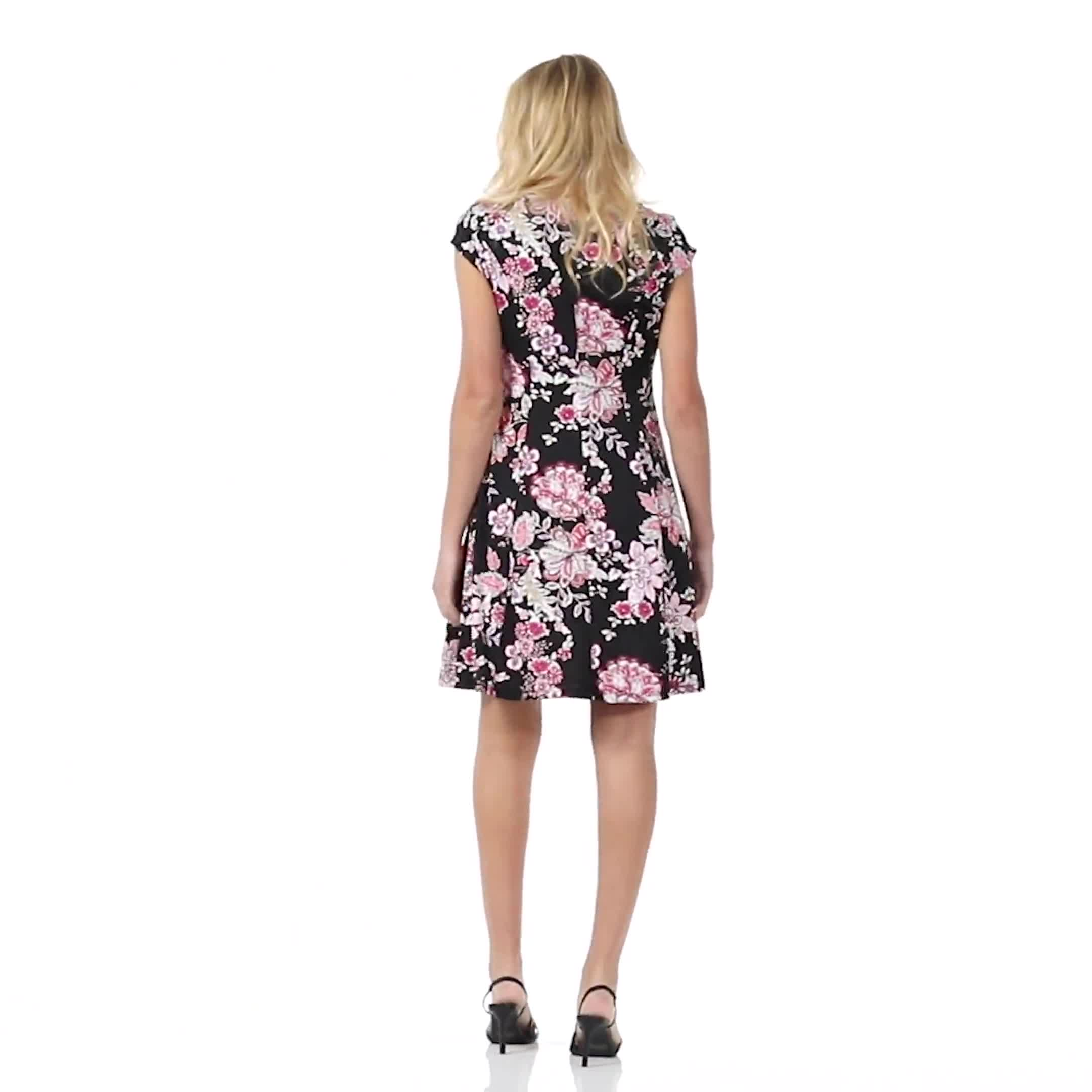 Floral Fit and Flare Dress - Video