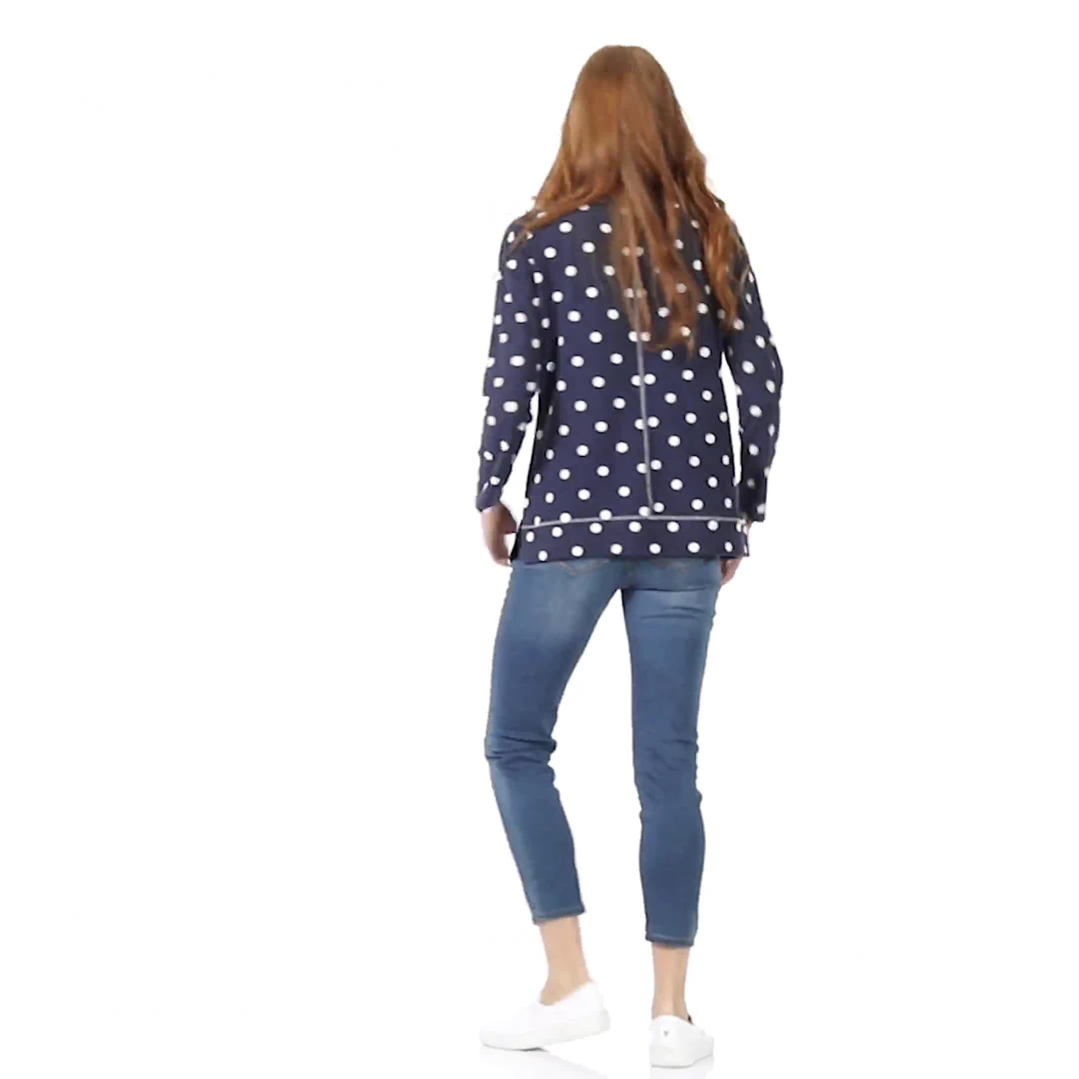 Polka Dot French Terry Sweatshirt - Video
