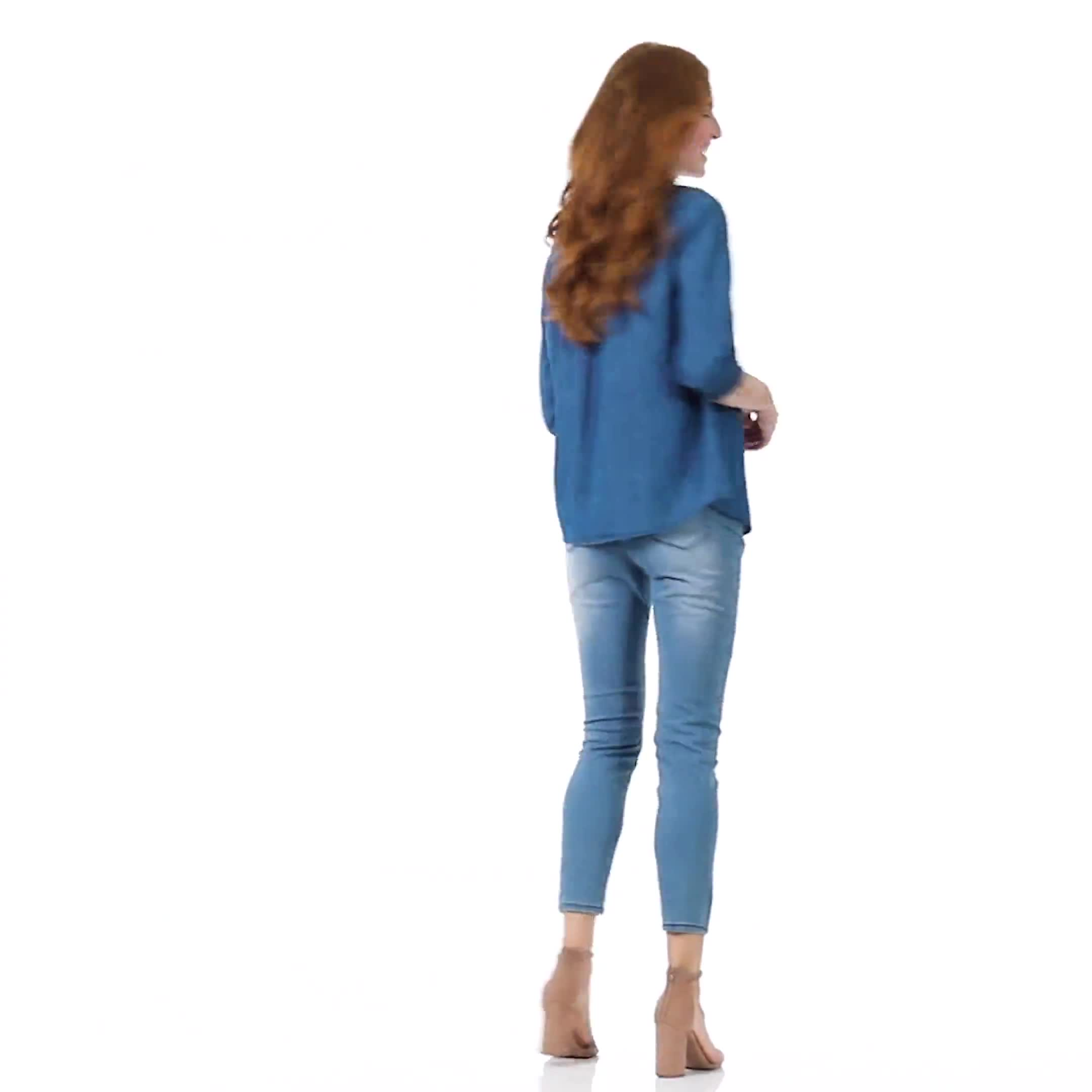 Denim Popover Top - Misses - Video