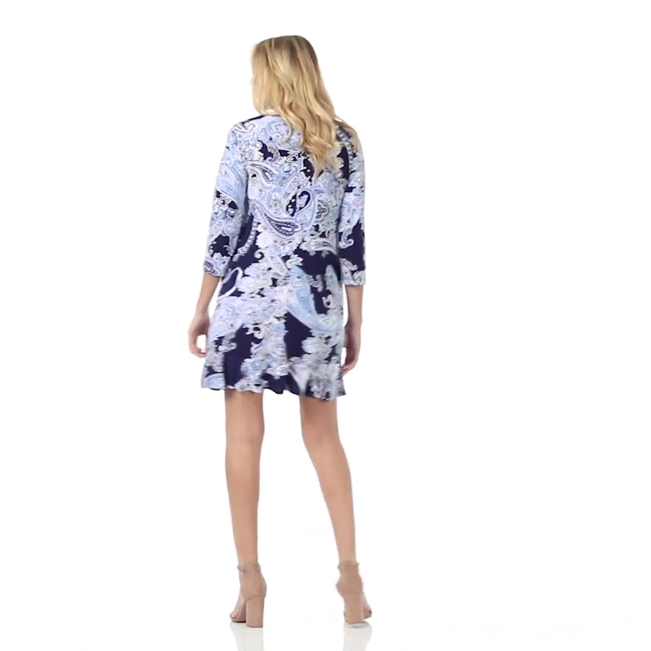 Paisley Flounce Hem Dress plus - Video