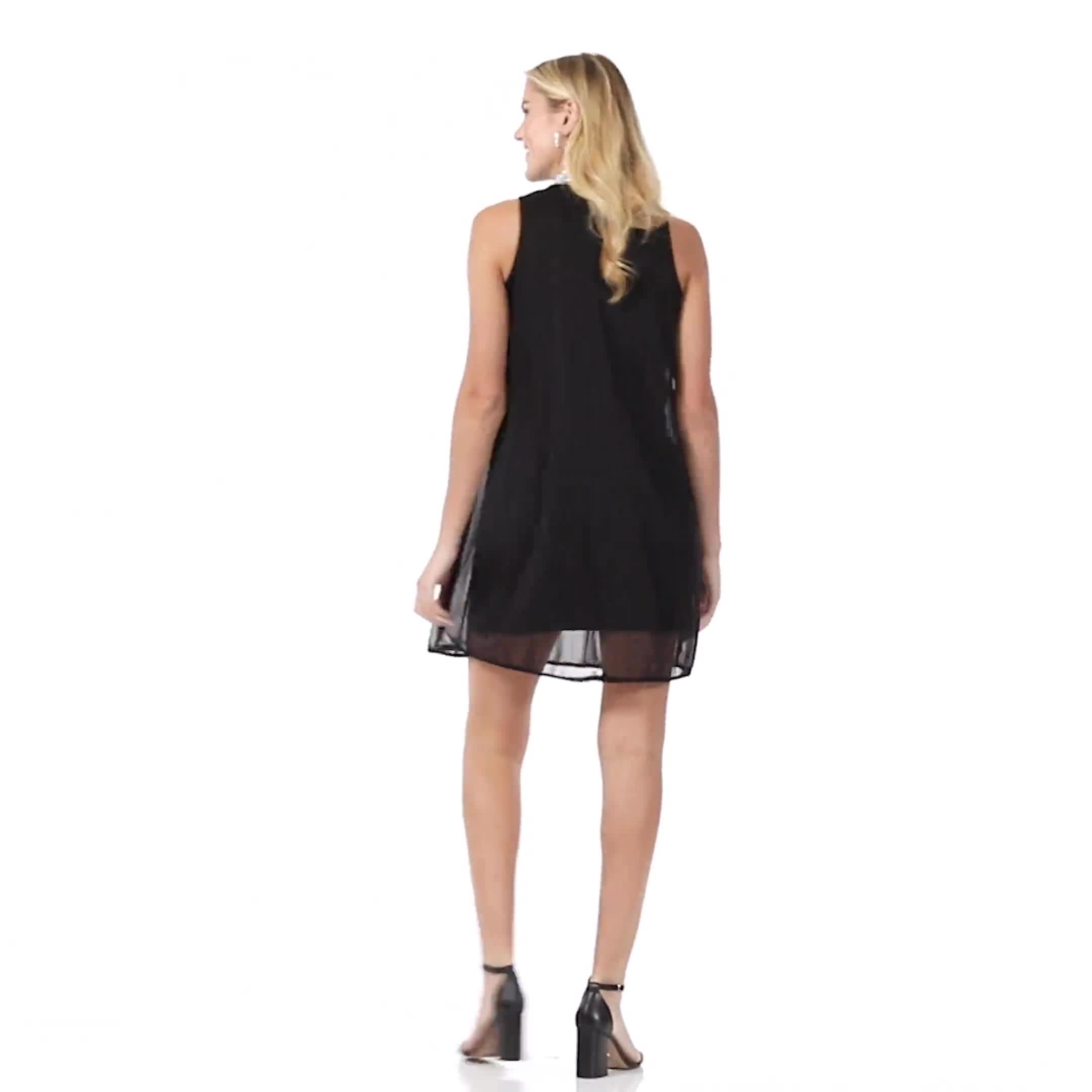 Beaded Mock Neck Dress - Video