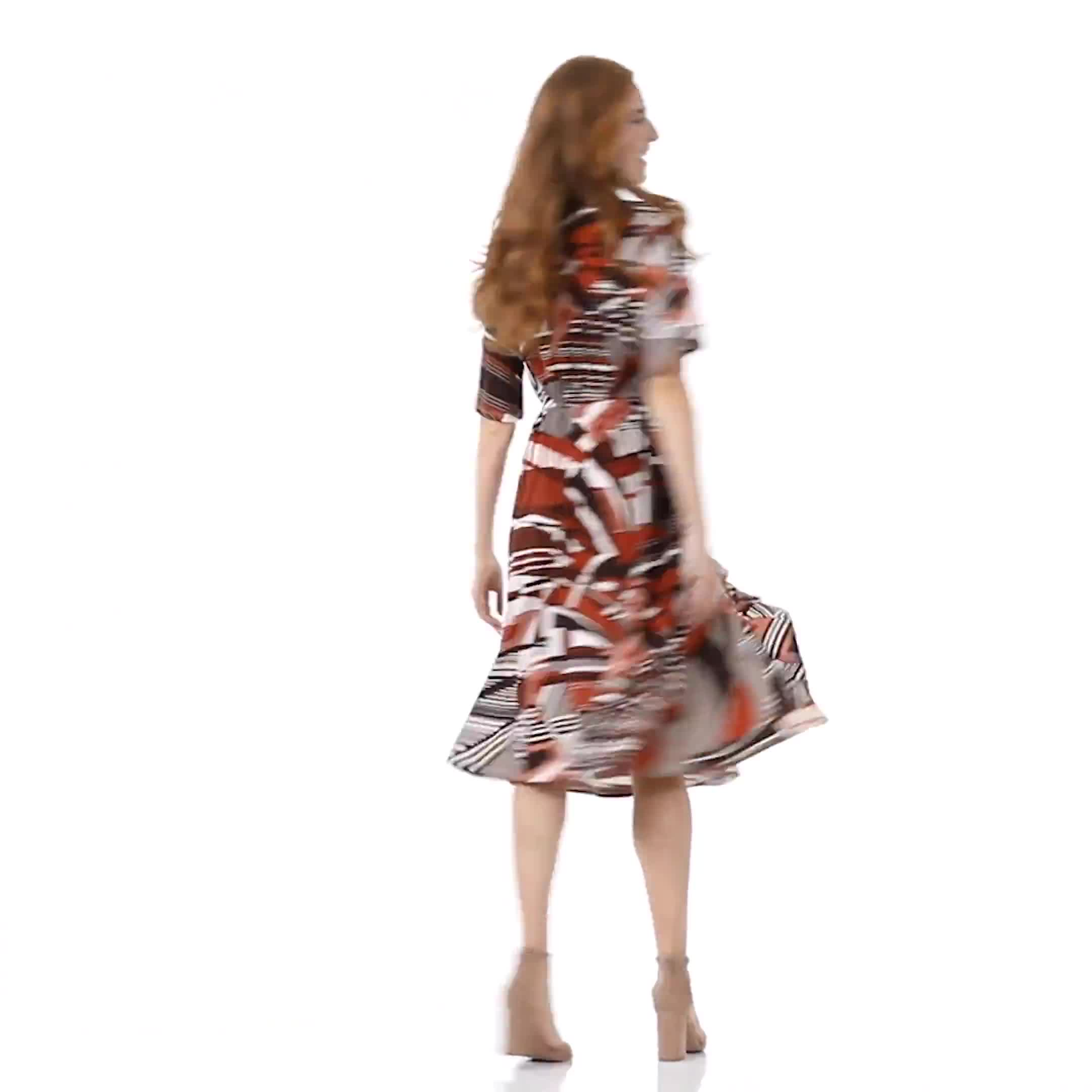 Classic Faux Wrap Dress - Video