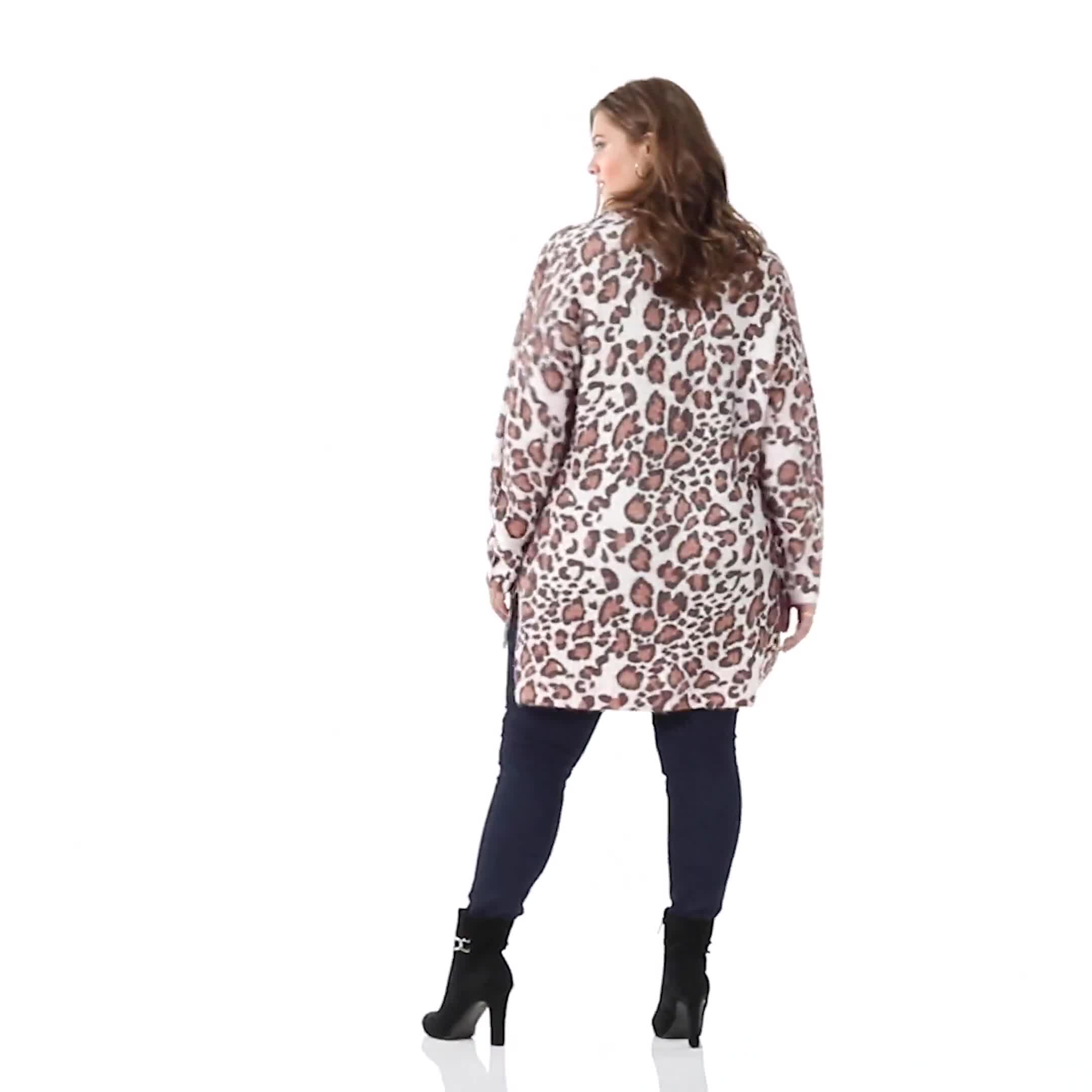 Roz & Ali Eyelash Animal Tunic Sweater - Plus - Video