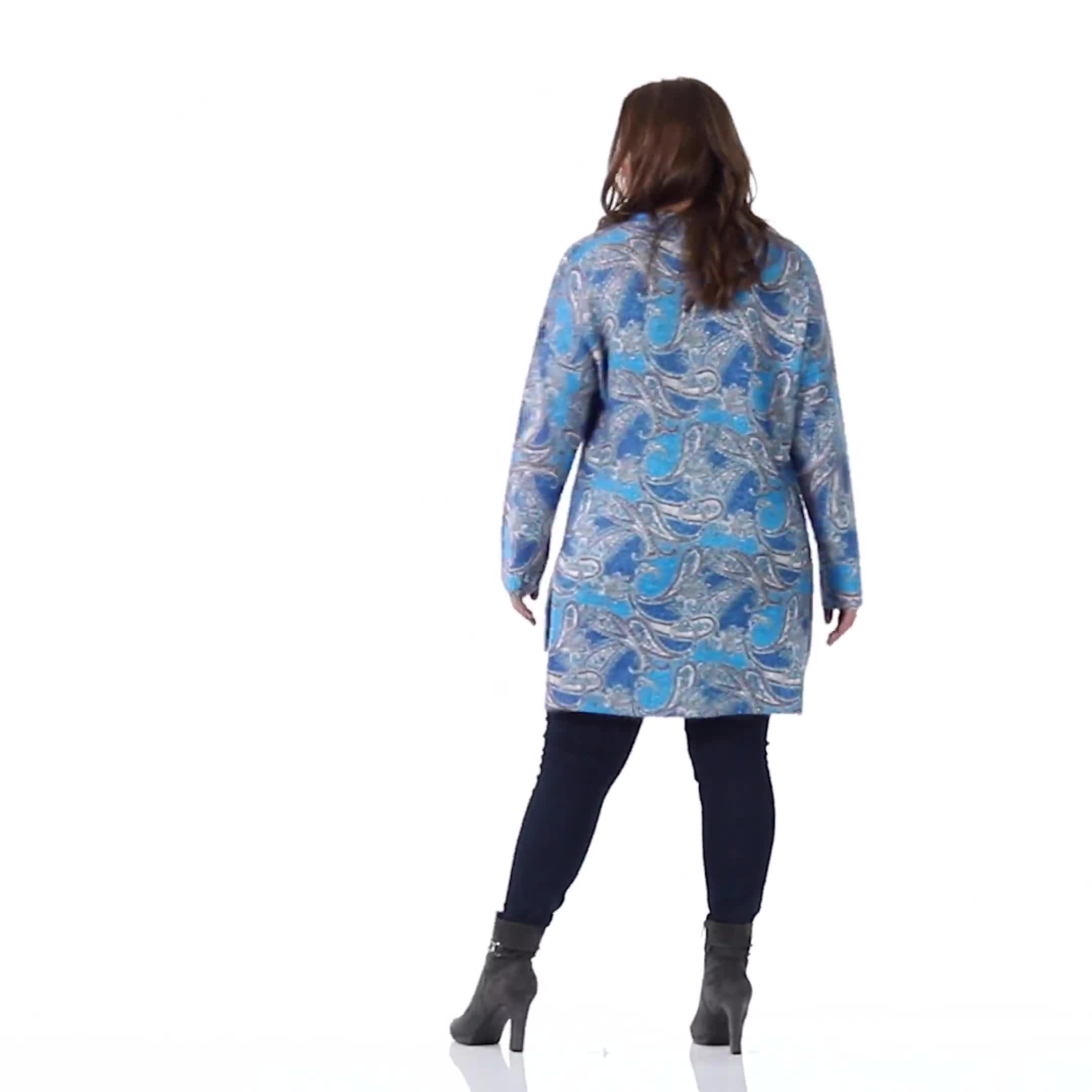Roz & Ali Paisley Eyelash Tunic Sweater - Plus - Video