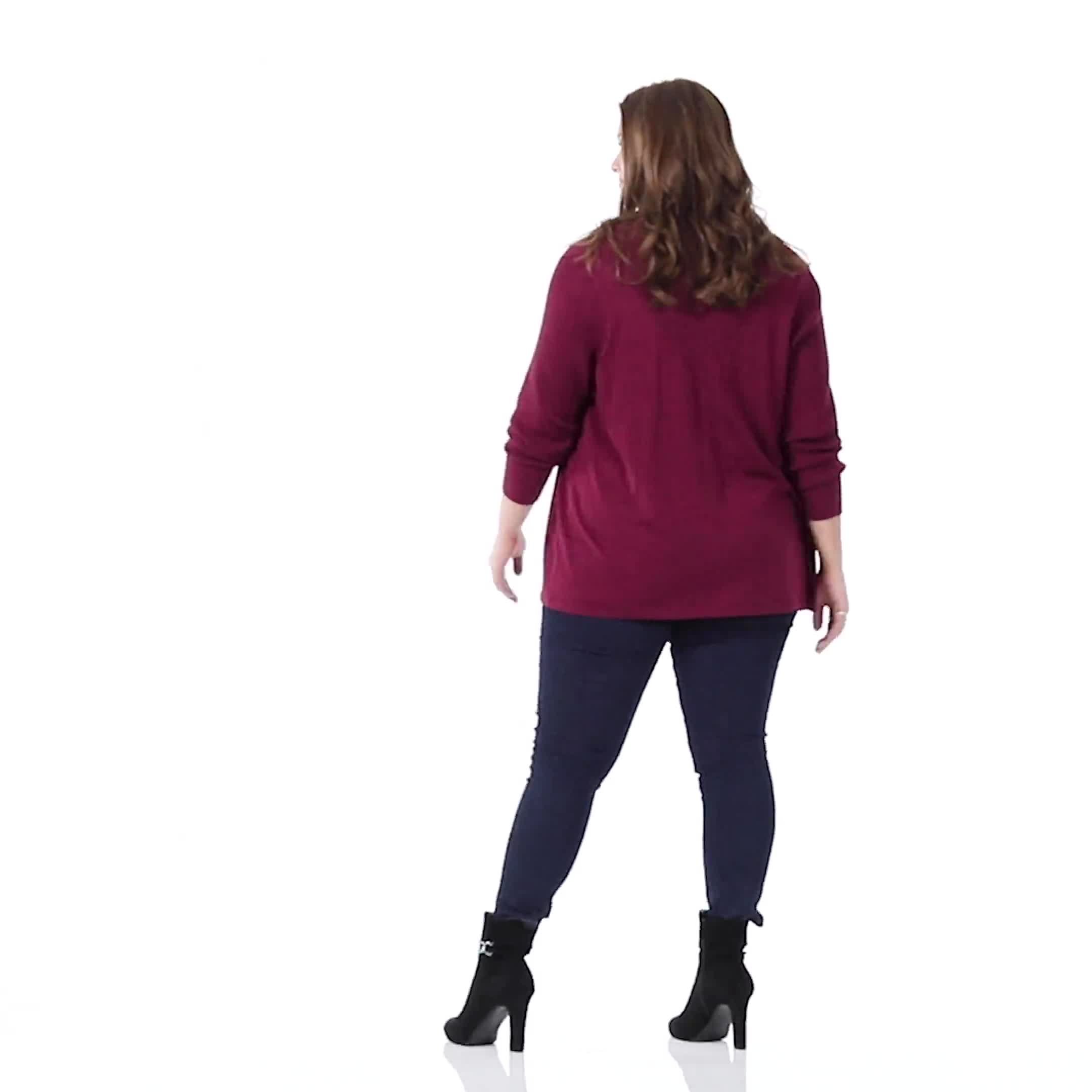 Roz & Ali Everyday Cardigan - Plus - Video