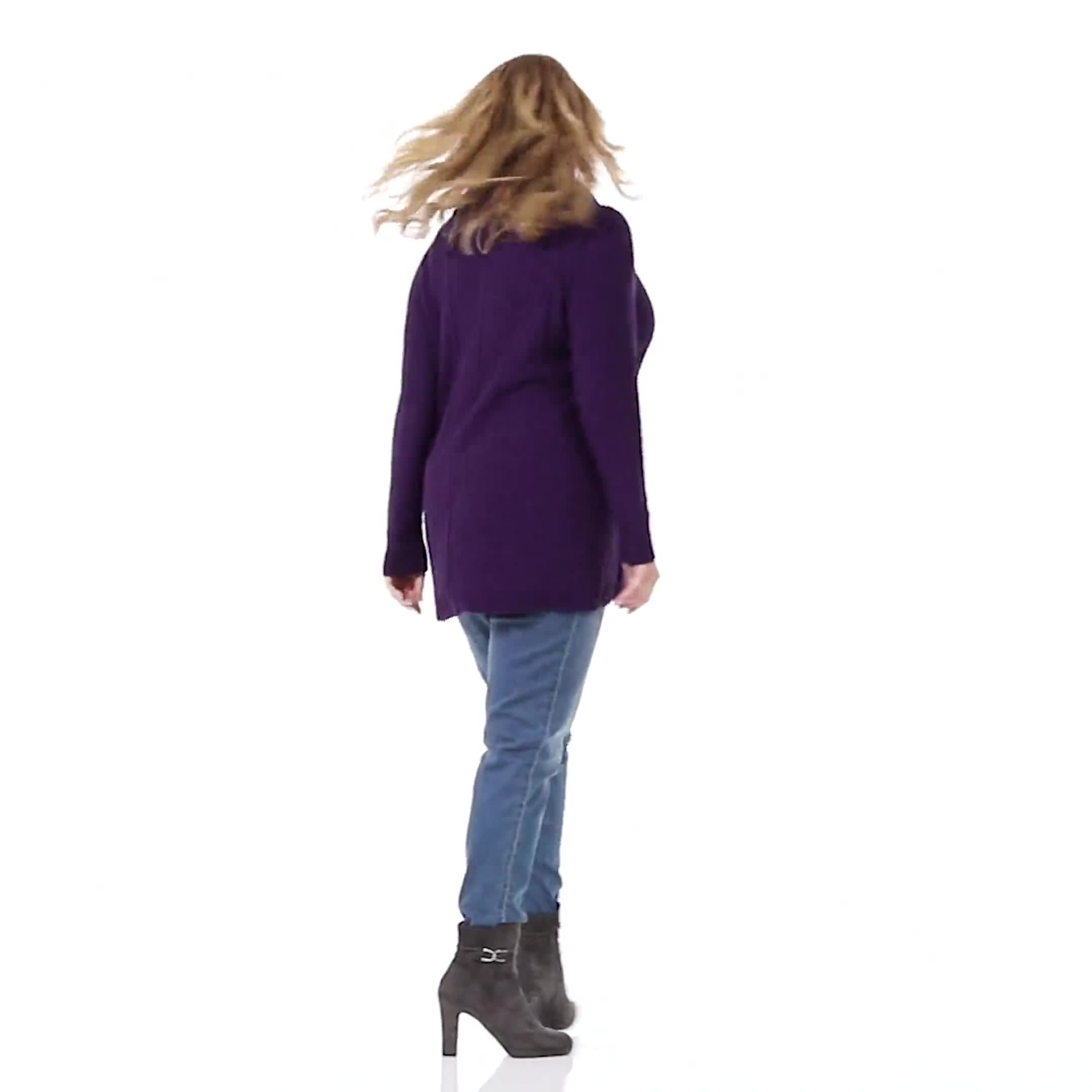 Cowl Neck Fit & Flare Sweater - Video