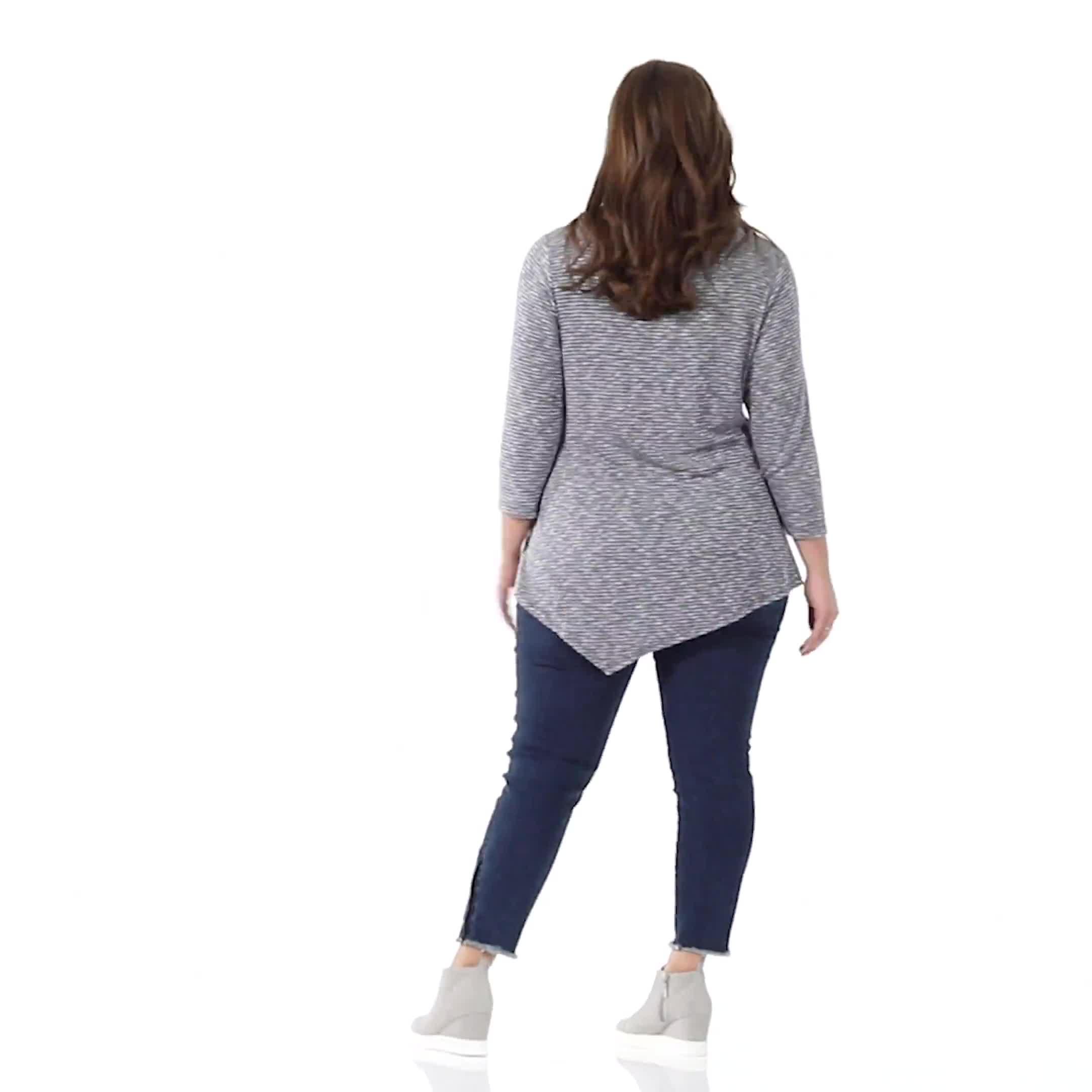 Westport Space Dye Sweater Knit Tunic - Video