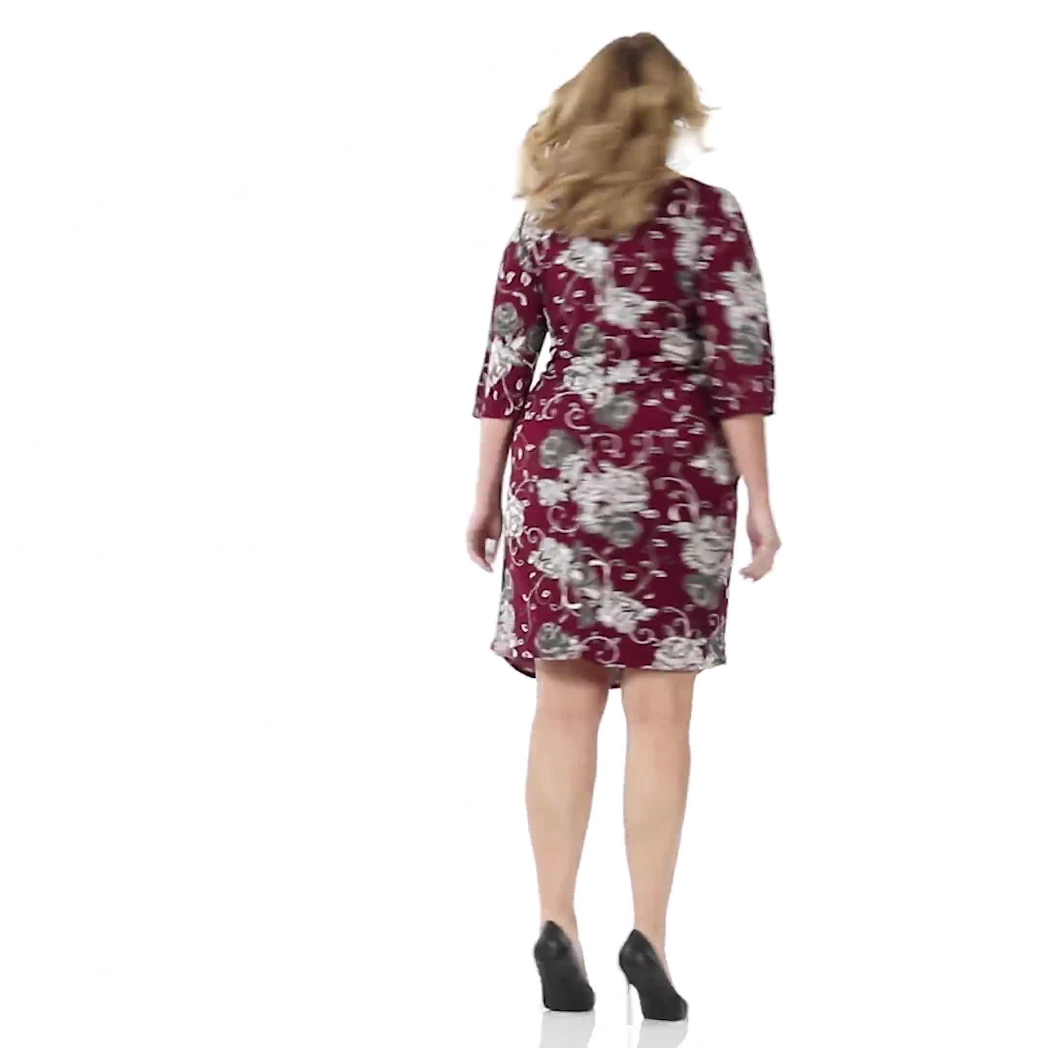 Robin  Floral Wrap Dress - Plus - Video