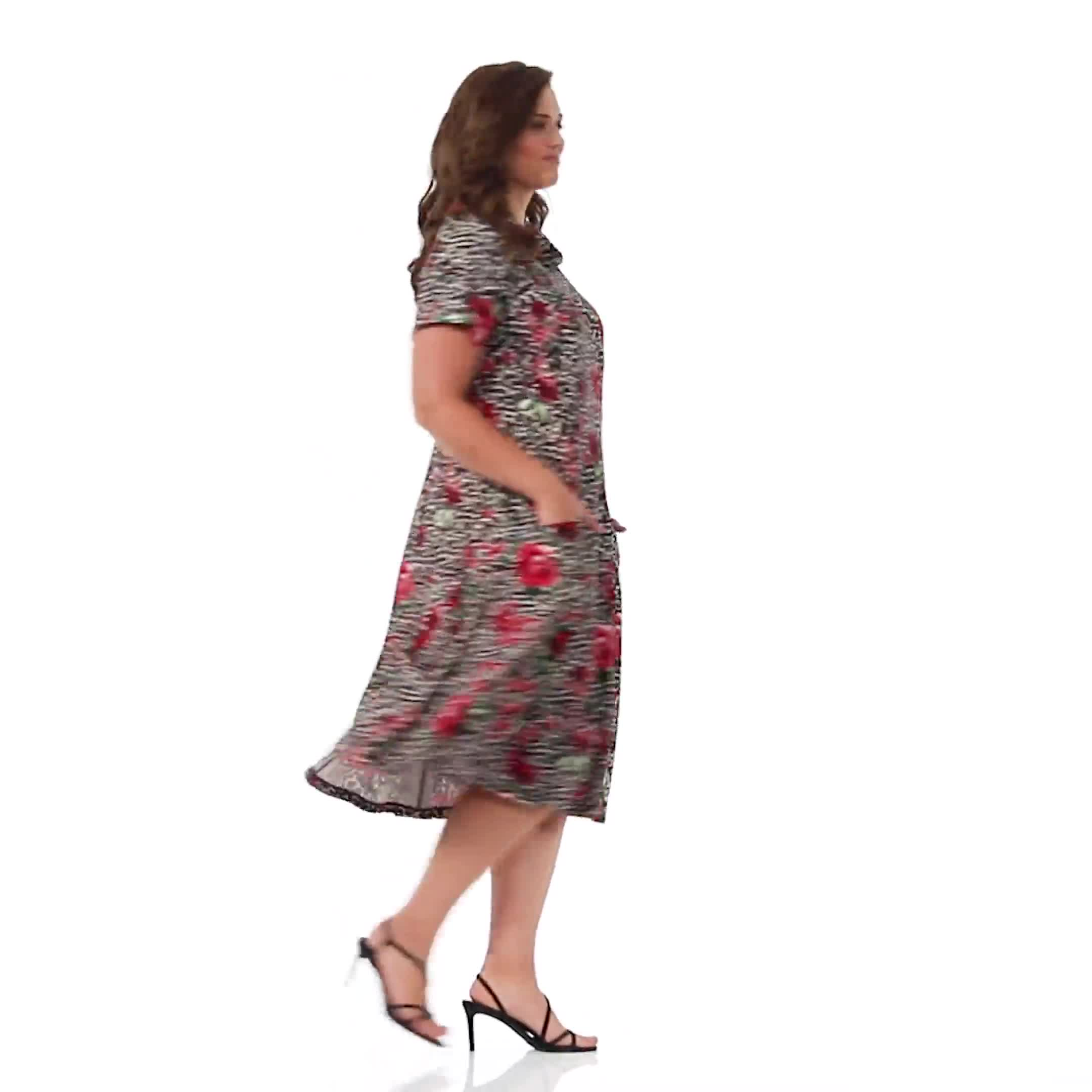 Leopard Rose Dress - Plus - Video