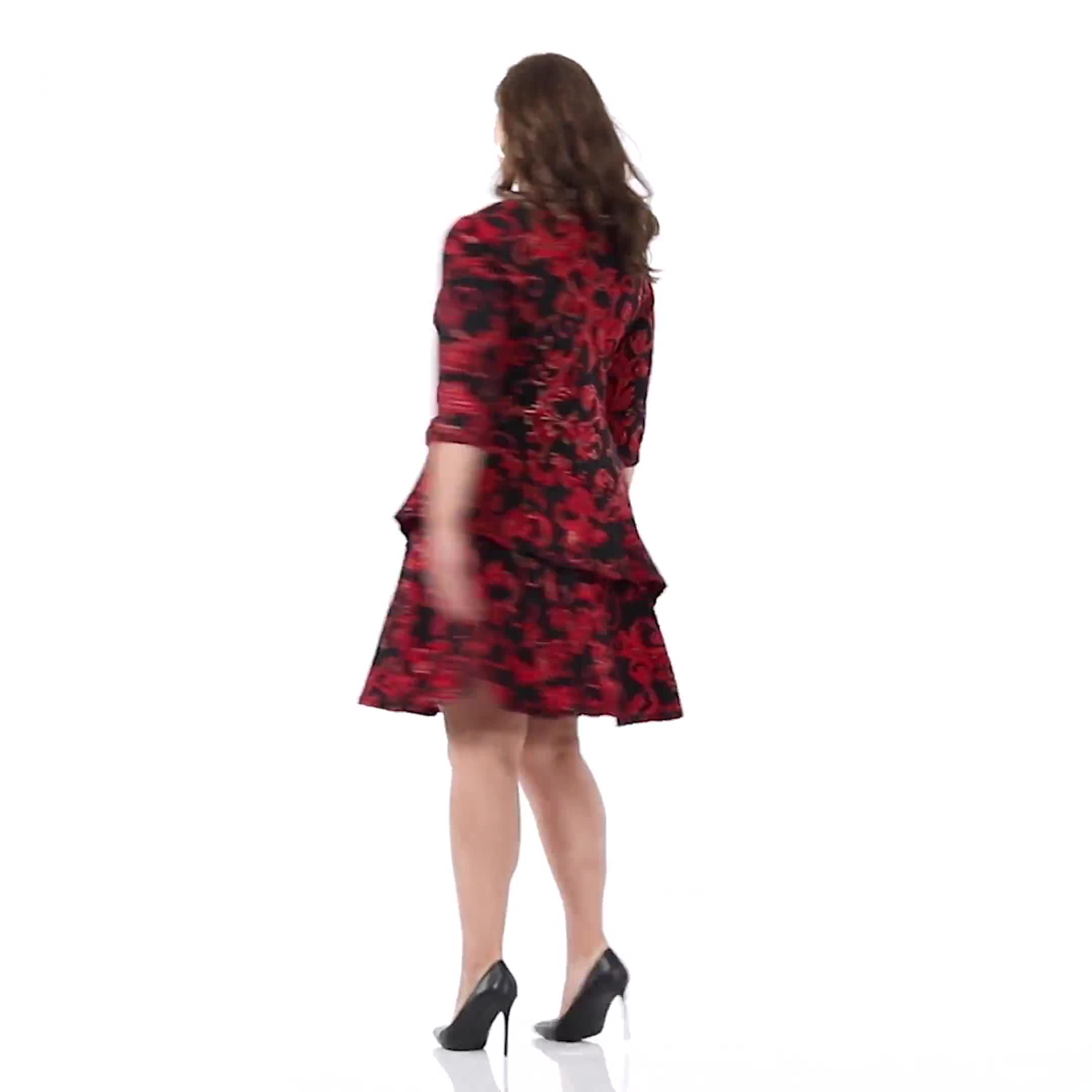 Scroll Tiered Dress - Plus - Video
