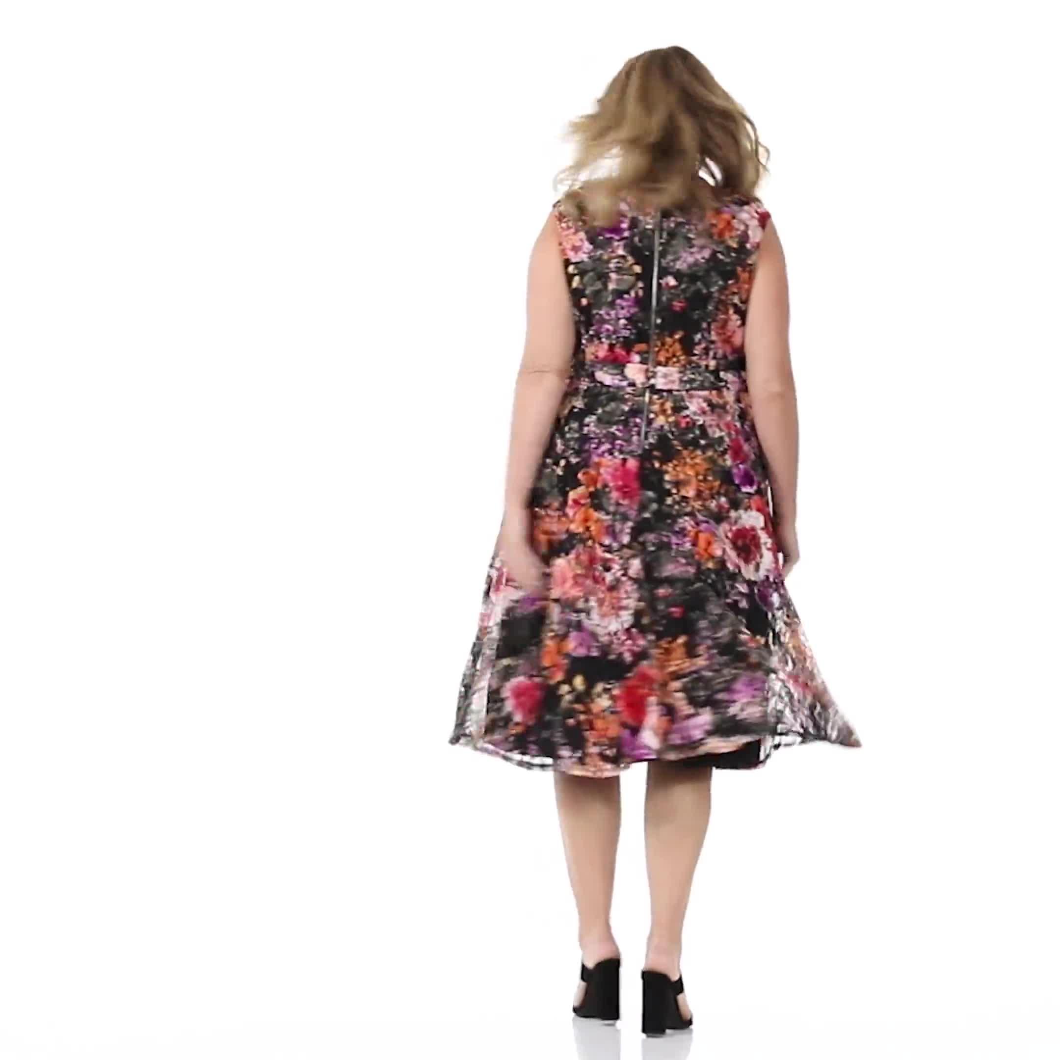 Wrap Rose Lace Dress - Plus - Video