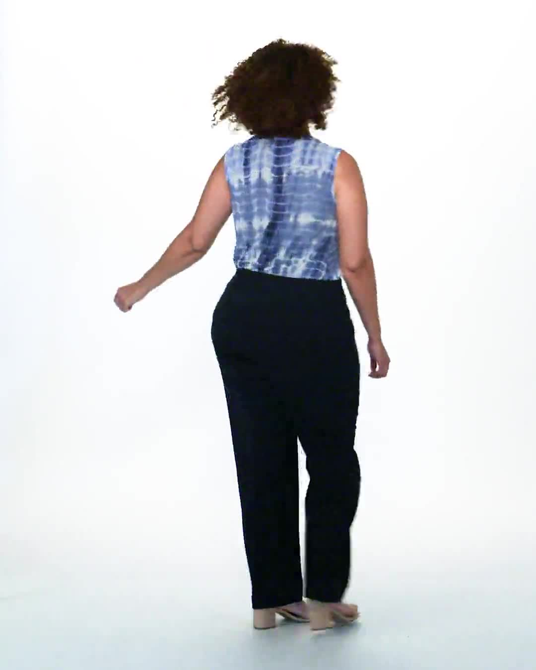 Roz & Ali Secret Agent Pull On Tummy Control Pants - Short Length - Plus - Video