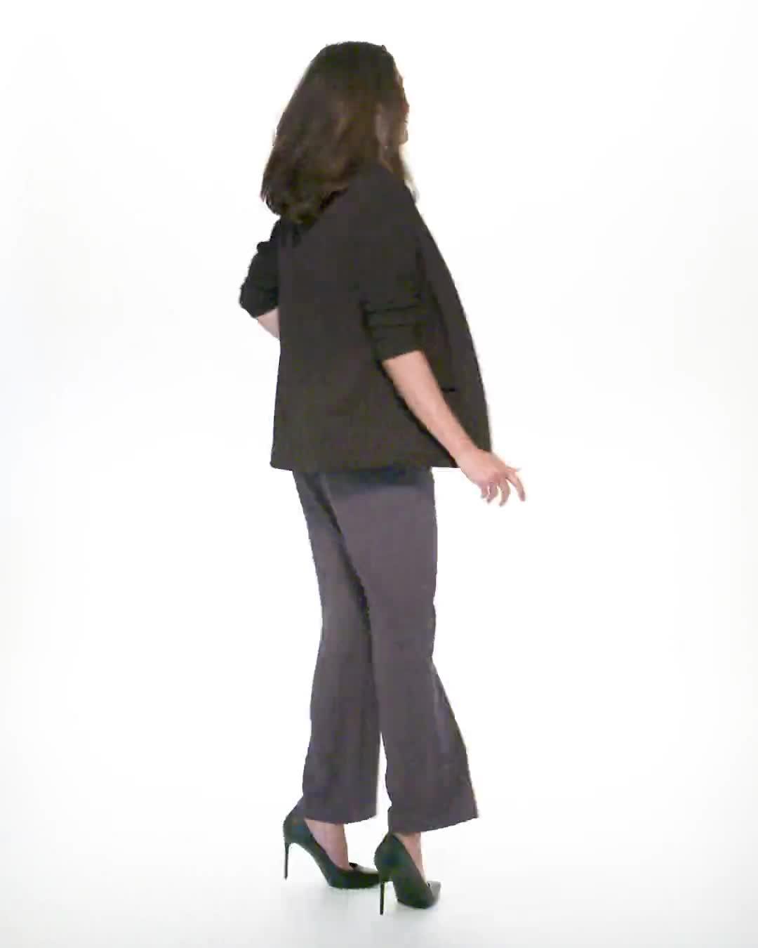 Roz & Ali Secret Agent Pull On Tummy Control Pants - Tall Length - Video