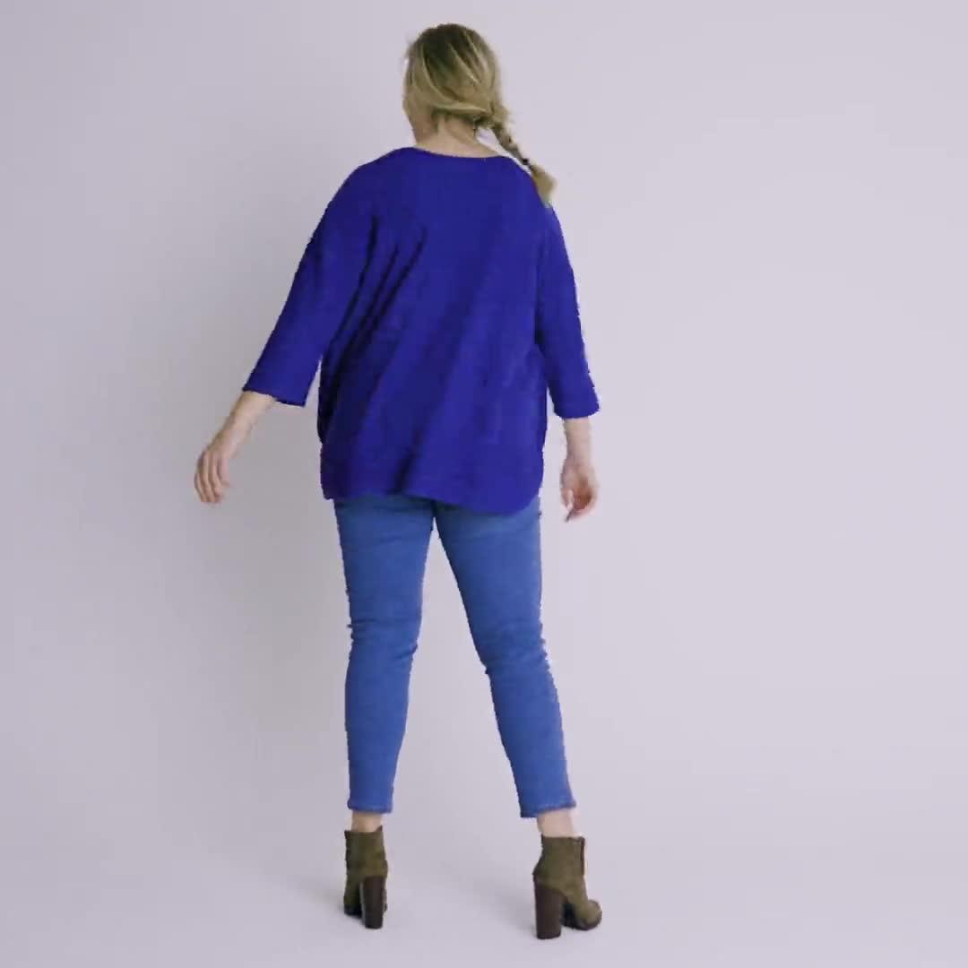 Westport Curved Hem Tunic Sweater  - Plus - Video