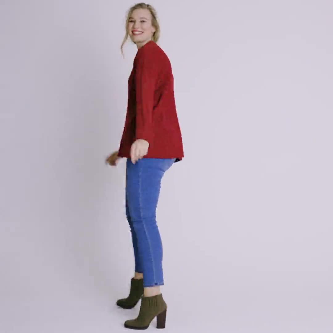 Westport Mixed Stitch Pullover Sweater - Plus - Video