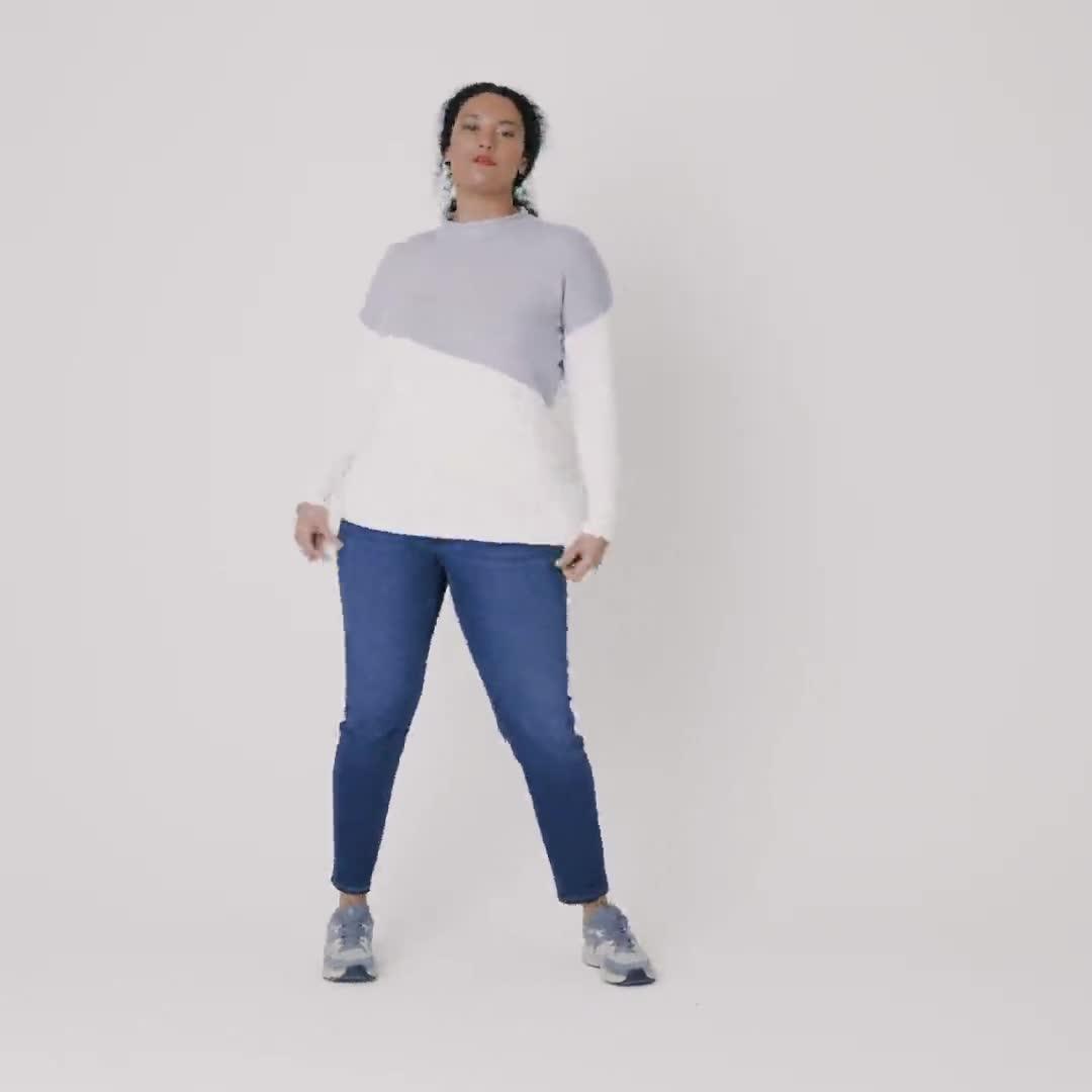 Roz & Ali Colorblock Pullover Sweater - Plus - Video