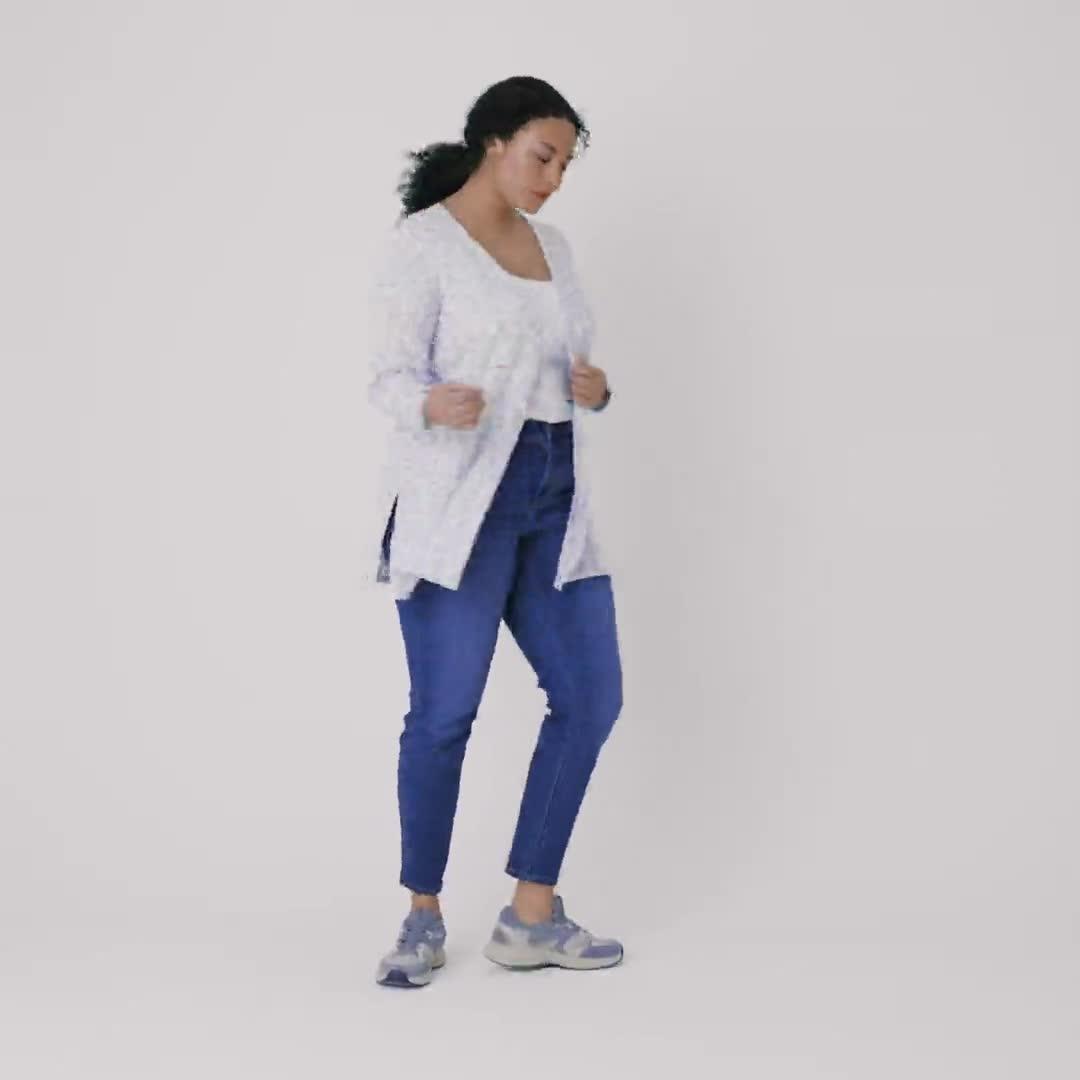 Westport Lace-Up Sleeve Cardigan Duster - Plus - Video