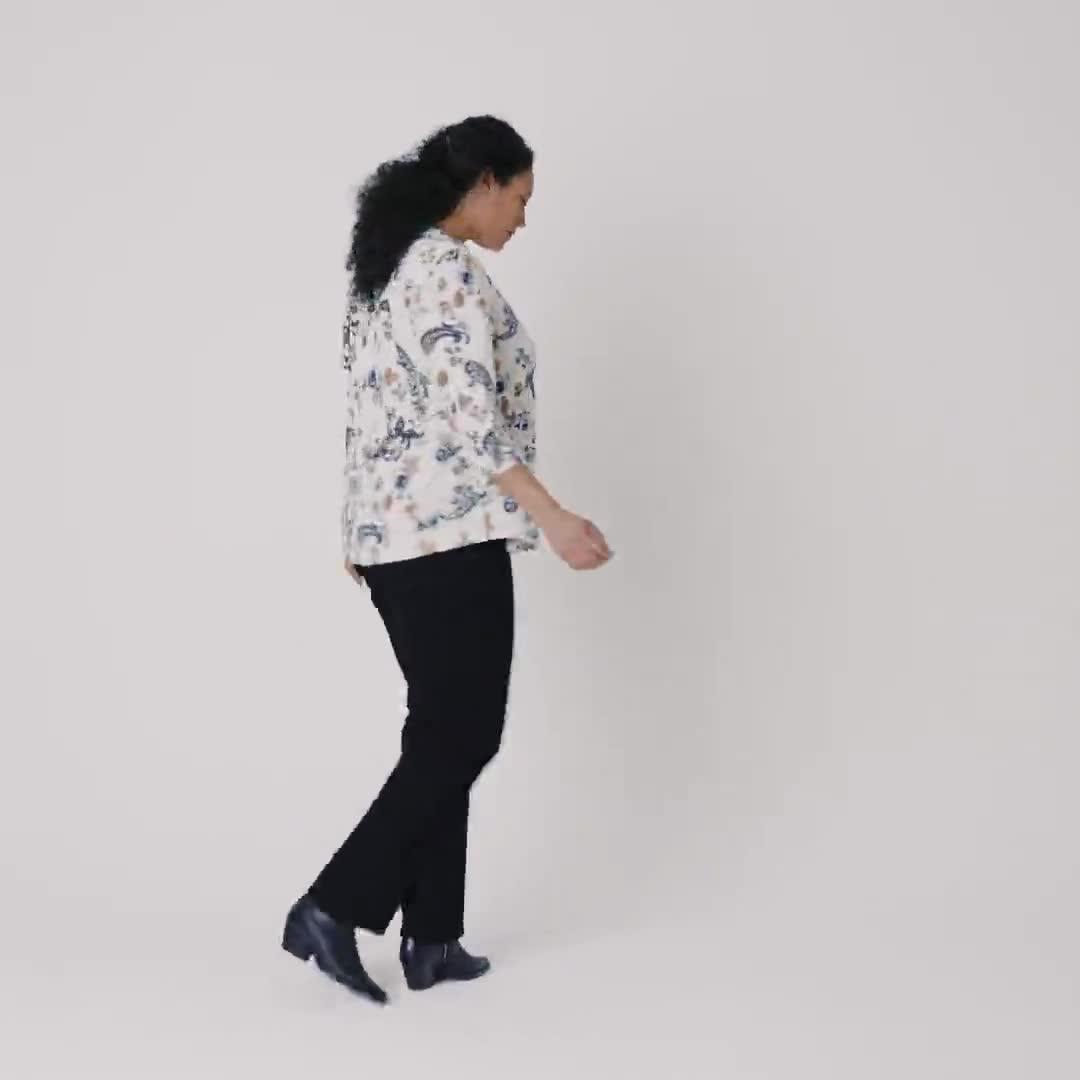 Roz & Ali Floral Jacquard Pintuck Popover - Plus - Video