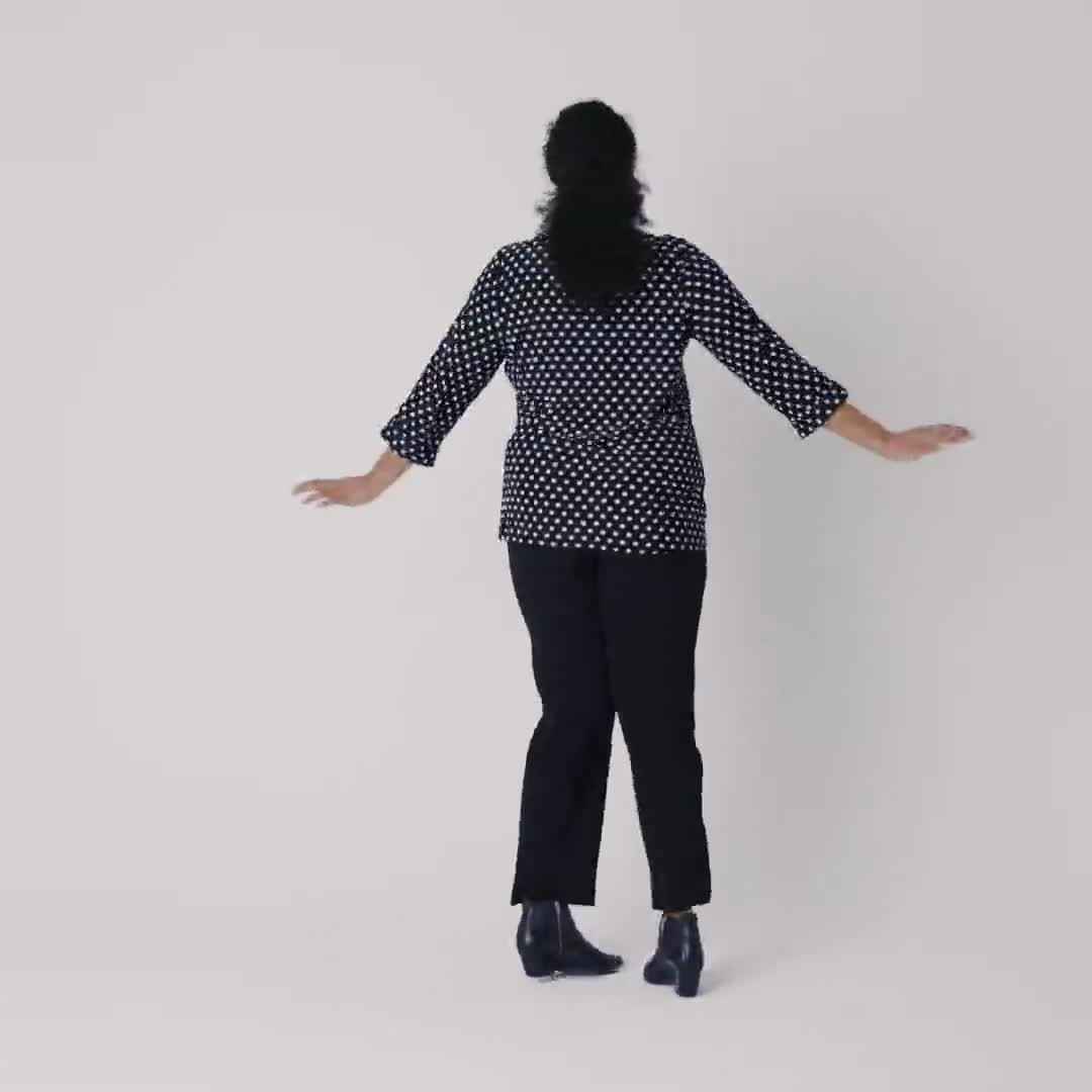 Roz & Ali Jacquard Dot Knit Popover - Plus - Video
