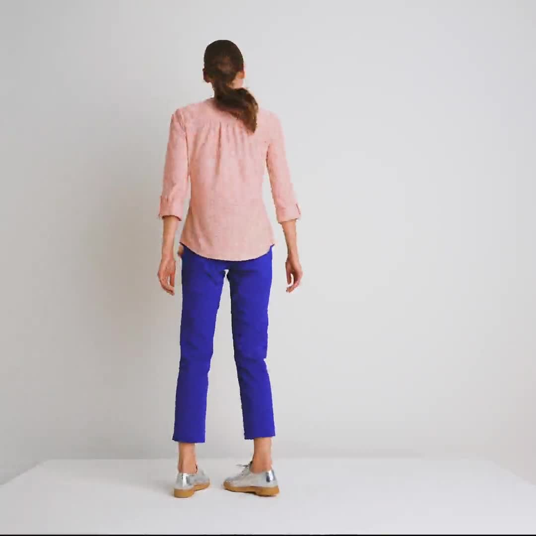Roz & Ali Eyelet Knit Pintuck Popover - Misses - Video