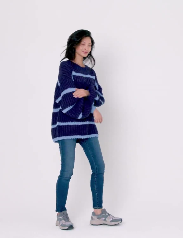 Westport Cozy Stripe Pullover Sweater - Video