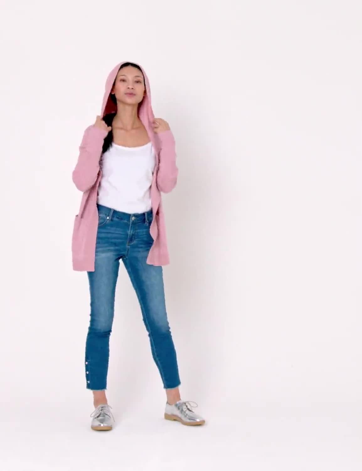 Westport Pocket Hoodie Open Cardigan - Video