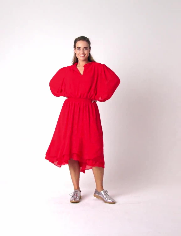 Karen Ruffle Hem  Hi Low Dress - Plus - Video