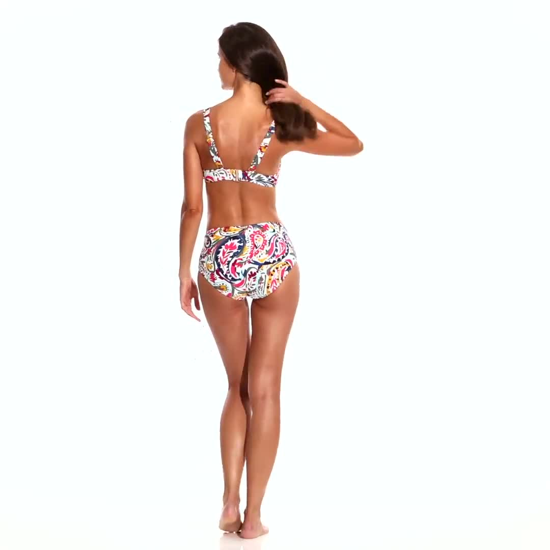 Anne Cole Under Wire Twist Front Bikini Swimsuit Top - Video