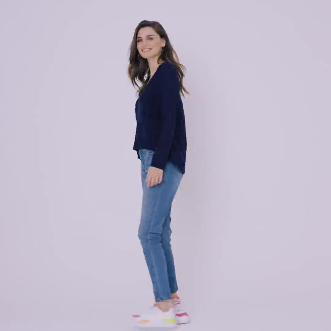 Roz & Ali Pointelle Hi/Lo Tunic Sweater - Video