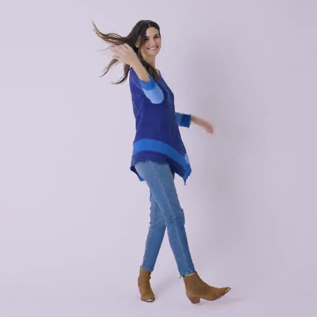 Westport Colorblock Asymmetrical Sweater - Video
