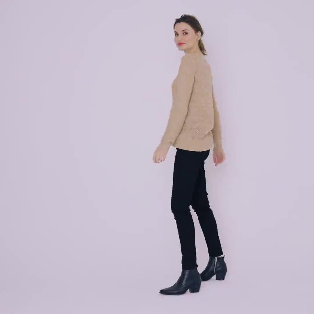 Westport Novelty Back Pullover Sweater - Misses - Video
