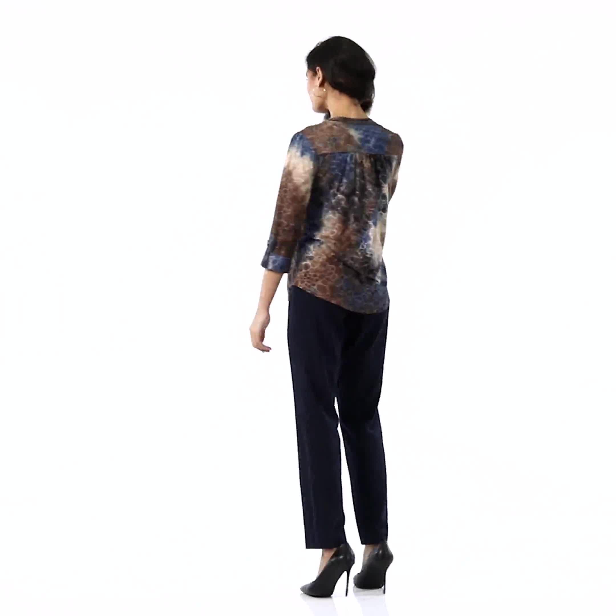 Roz & Ali Secret Agent Pull On Tummy Control Pants with L Pockets - Petite - Video