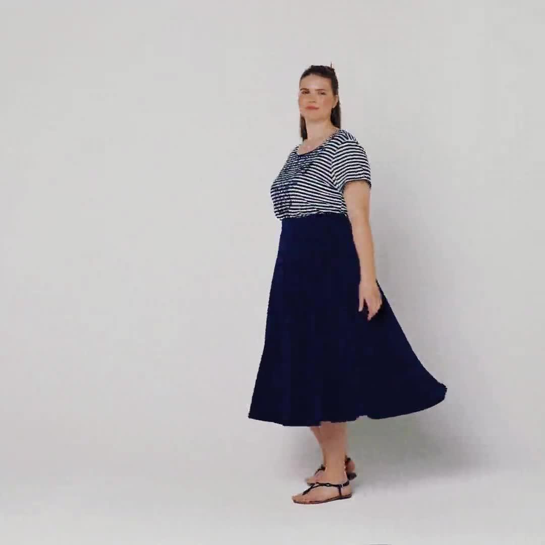 Tasmin Flare Floral Midi Skirts - Plus - Video