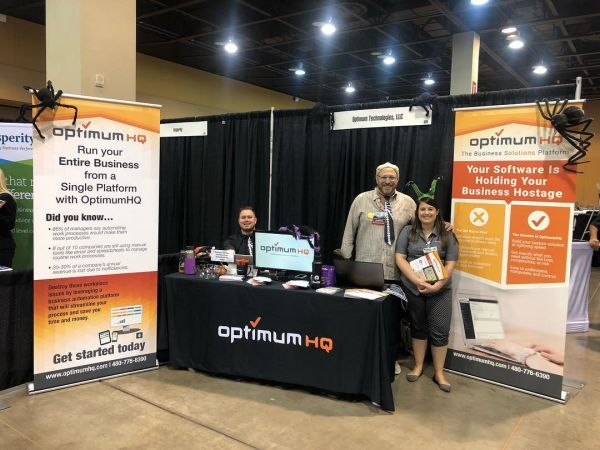 OptimumHQ booth at the Small Business Expo in October